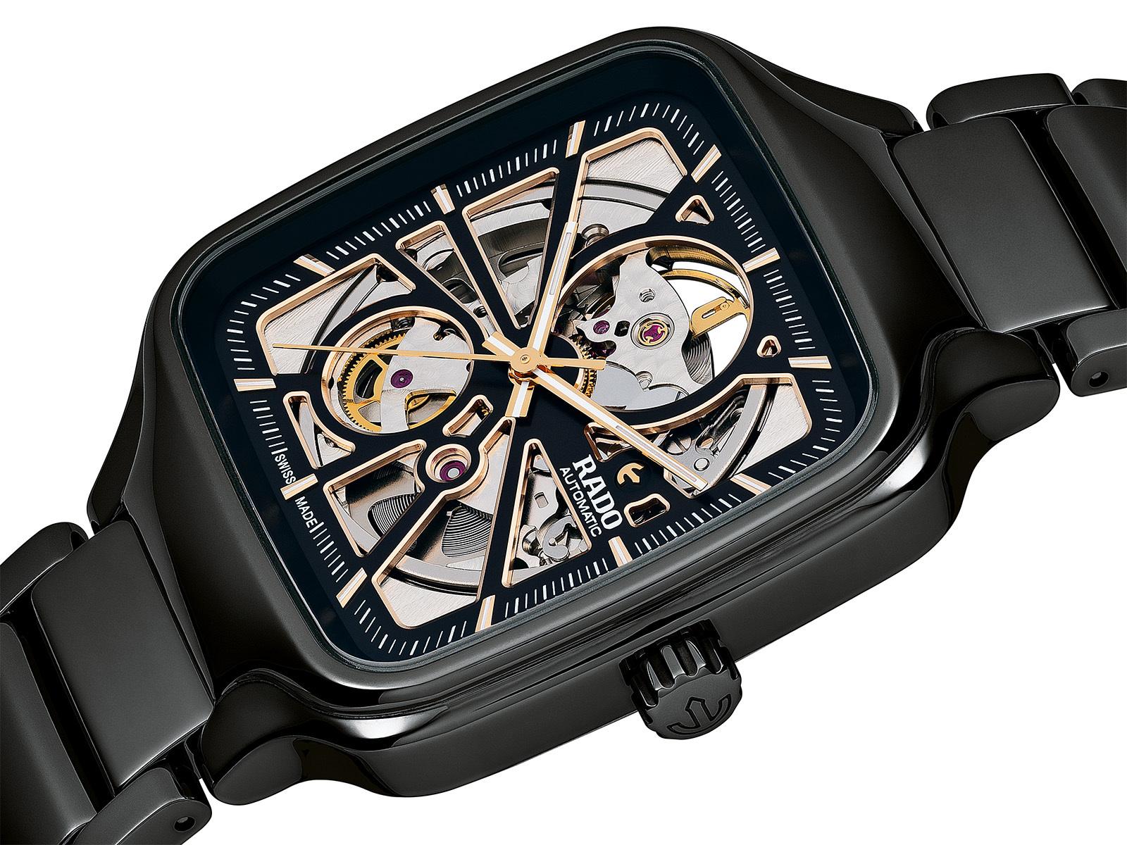 【RADO ラドー】True Square Automatic Open Heart トゥルースクエア オープンハート(ブラック)/国内正規品 腕時計