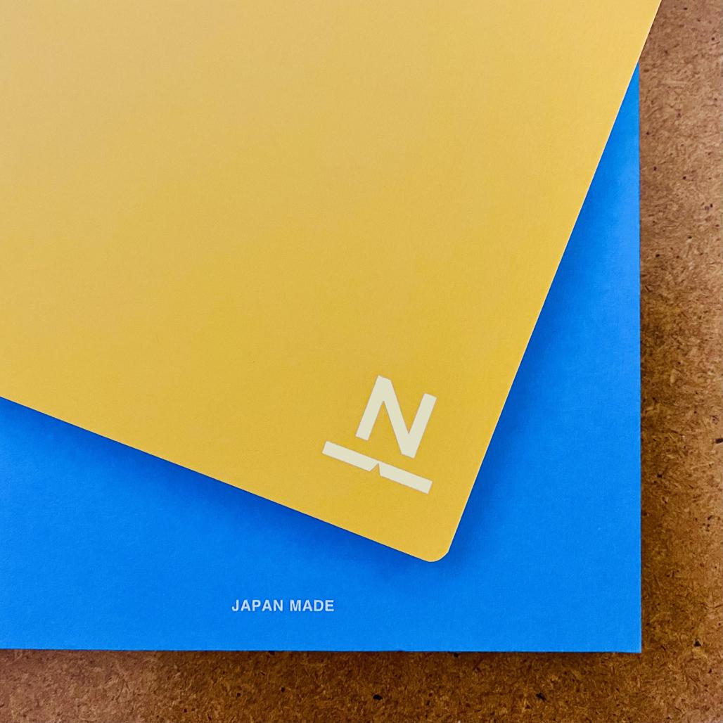 ノンブルノート「N」(99)クロムイエロー×スカイブルー