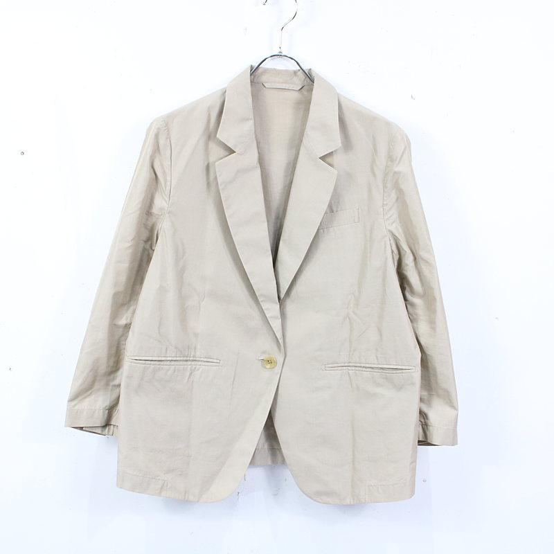 【美品】MARGARET HOWELL / マーガレットハウエル   シルクコットン1Bジャケット   2   ベージュ   レディース