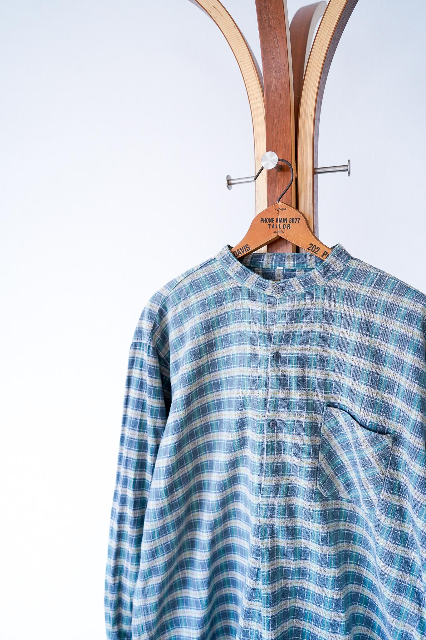 """【1960s】""""French Made"""" Euro Vintage Grandpa Shirts / v642y"""