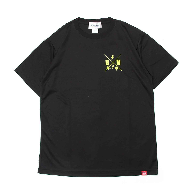 マウンテンプリントUV DRY Tシャツ  [BLK]