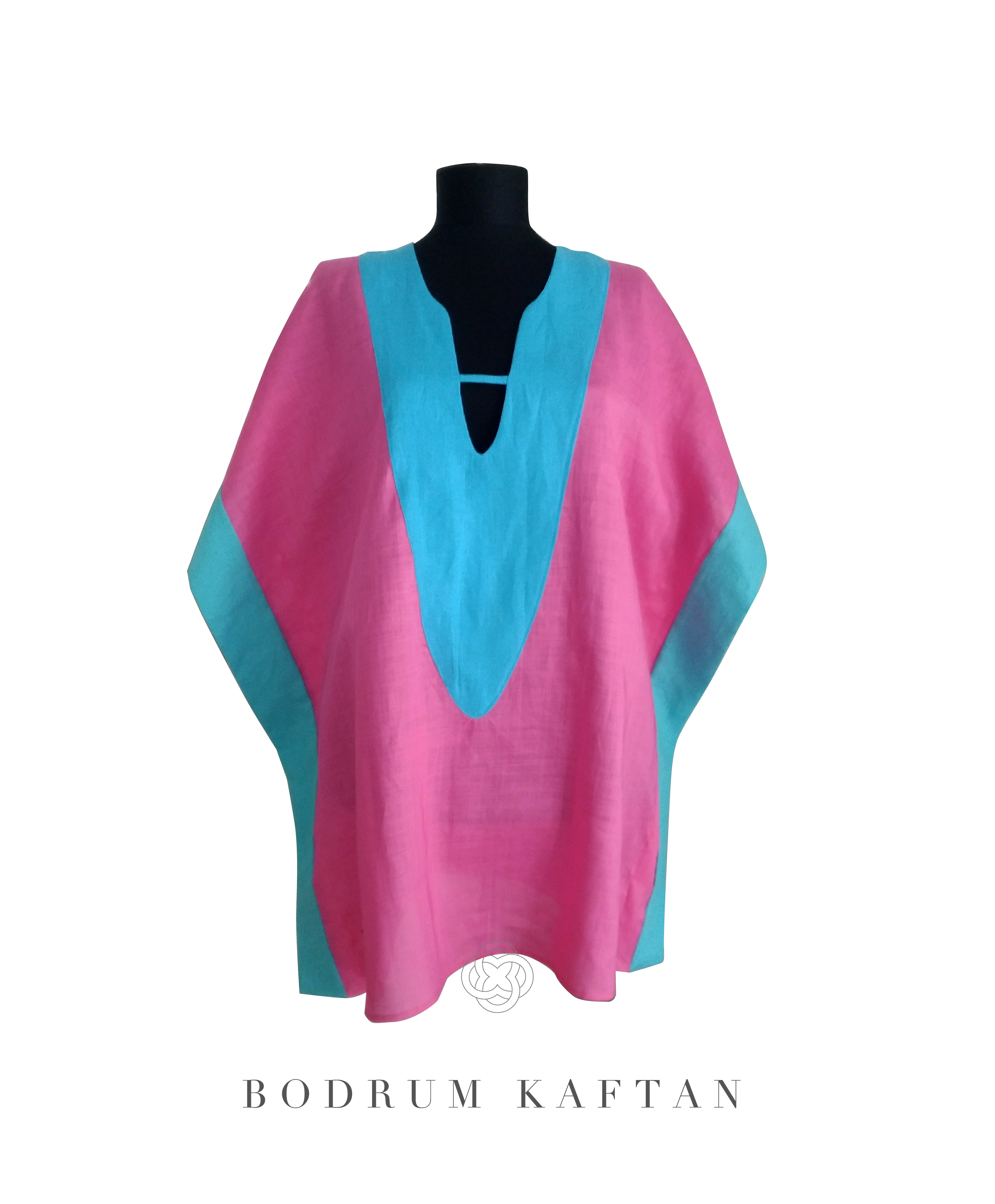 Bodrum Resort Kaftan Tunic Linen Capri ボドルムリゾートカフタンチュニック丈 リネン カプリ