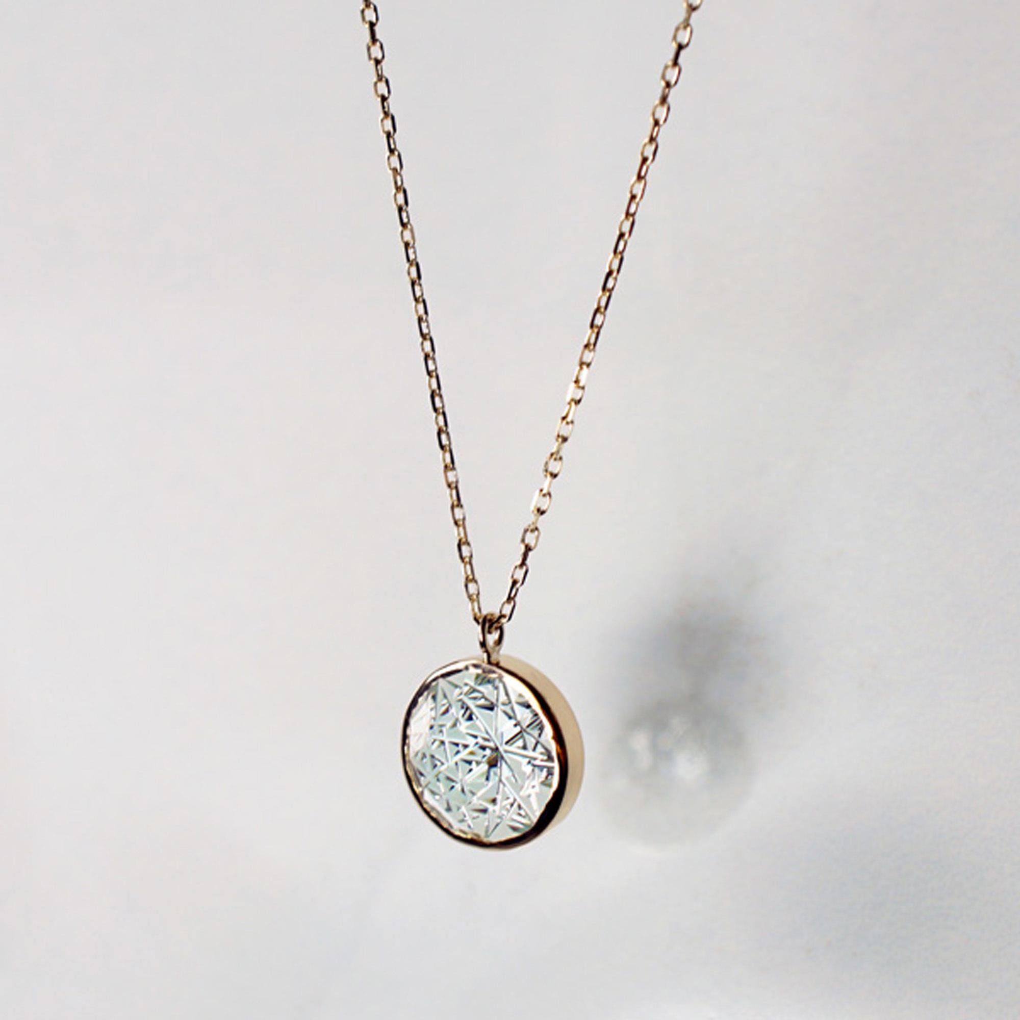 Green Quartz KIRIKO Necklace (Round)