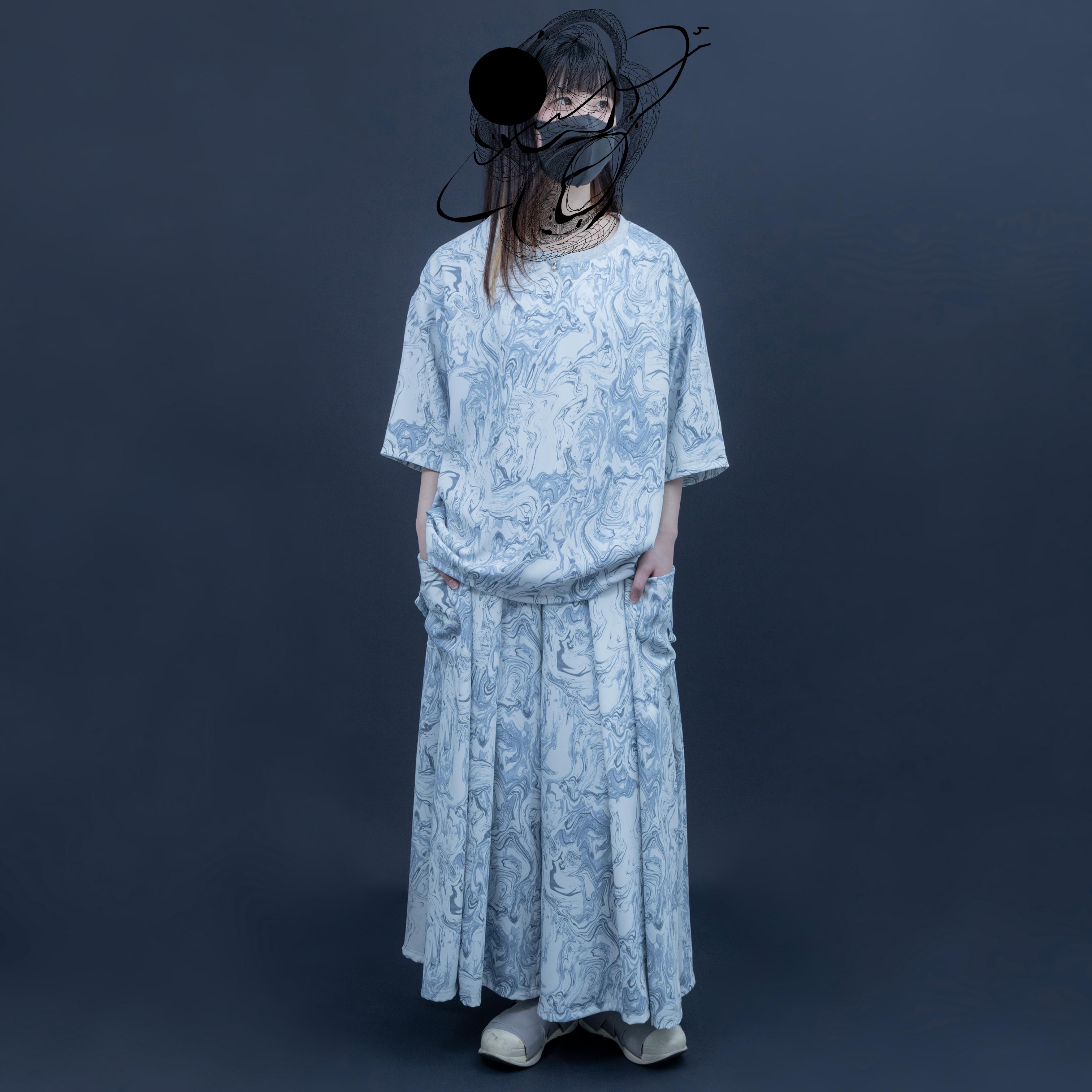 【オーダー受付】Basic-T-shirts  (blue marble)