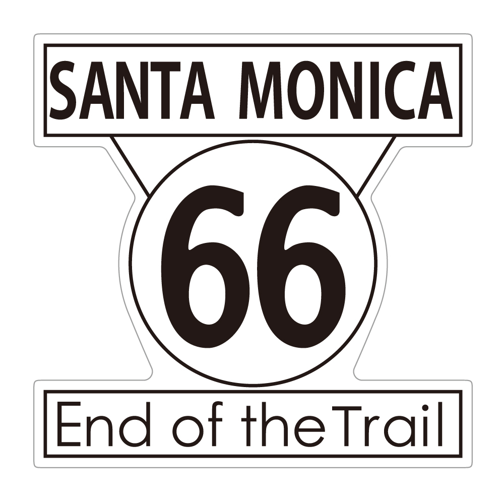 "280 End of the Trail SANTA MONICA  ""California Market Center"" アメリカンステッカー スーツケース シール"