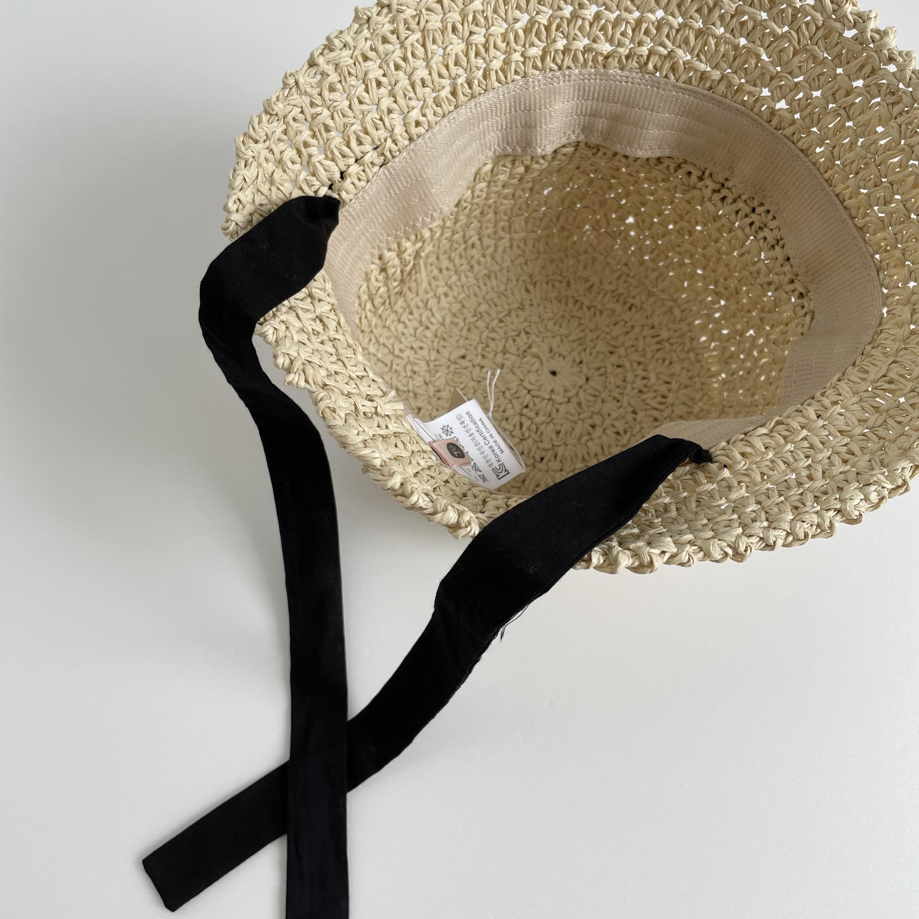 NO.1344. baby ribbon straw hat