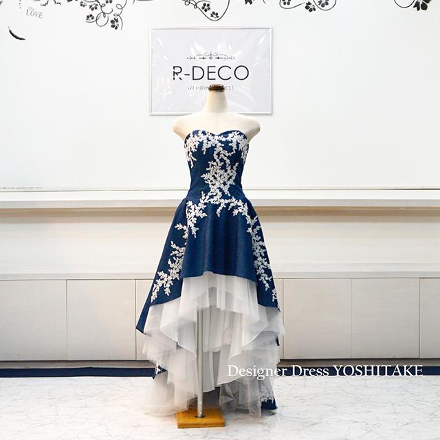 【加藤様オーダー制作】ウエディングドレス 前あきデニムドレス/ミモレ丈