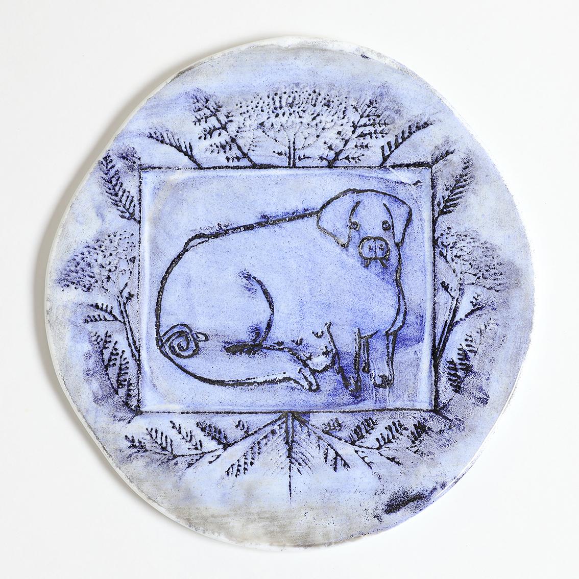 Nuutajarvi ヌータヤルビ Oiva Toikka オイバ トイッカ 豚の陶板 北欧ヴィンテージ