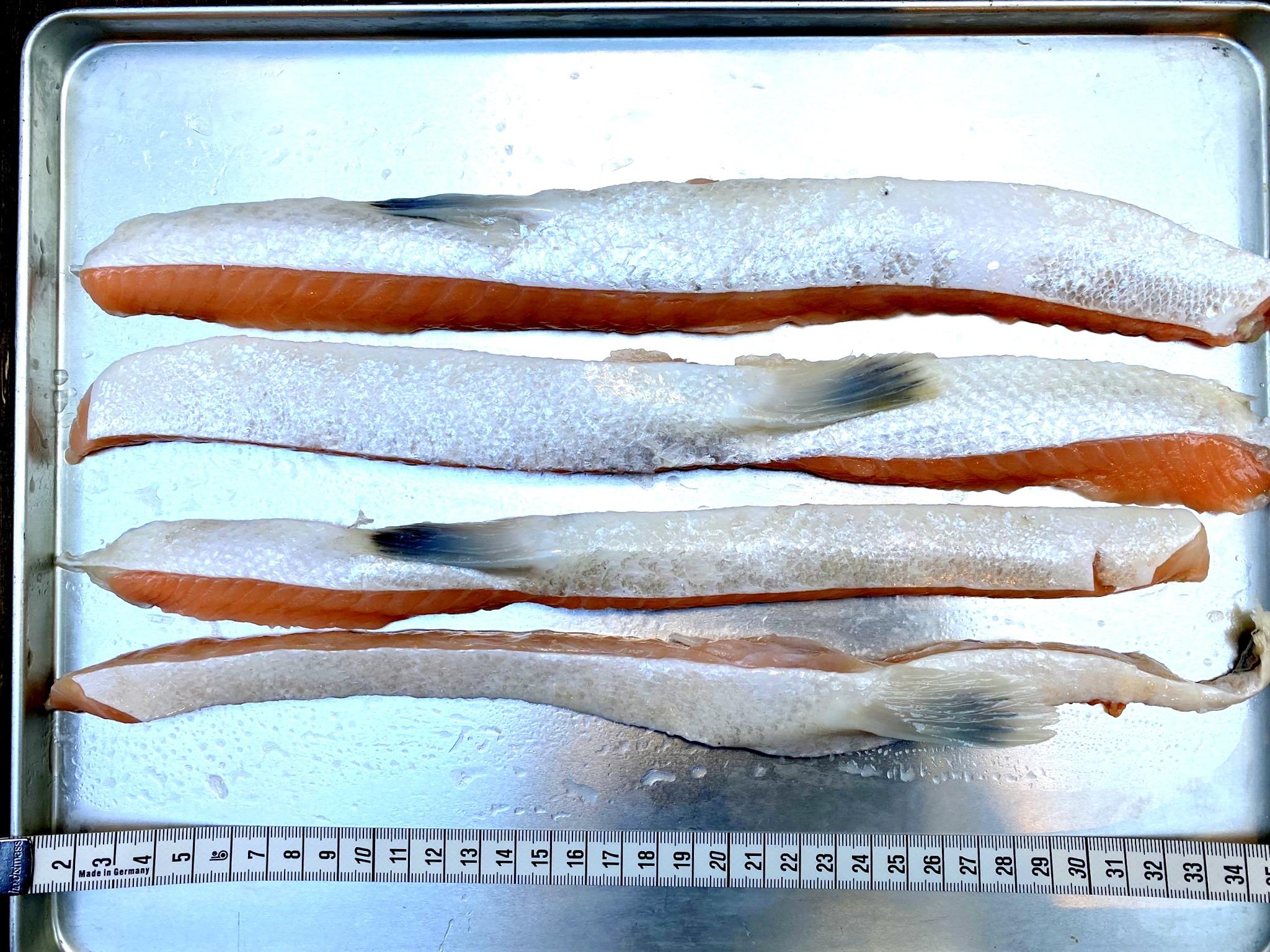 (0078)冷凍 定塩アトランティックサーモンハラス 400g 業務用