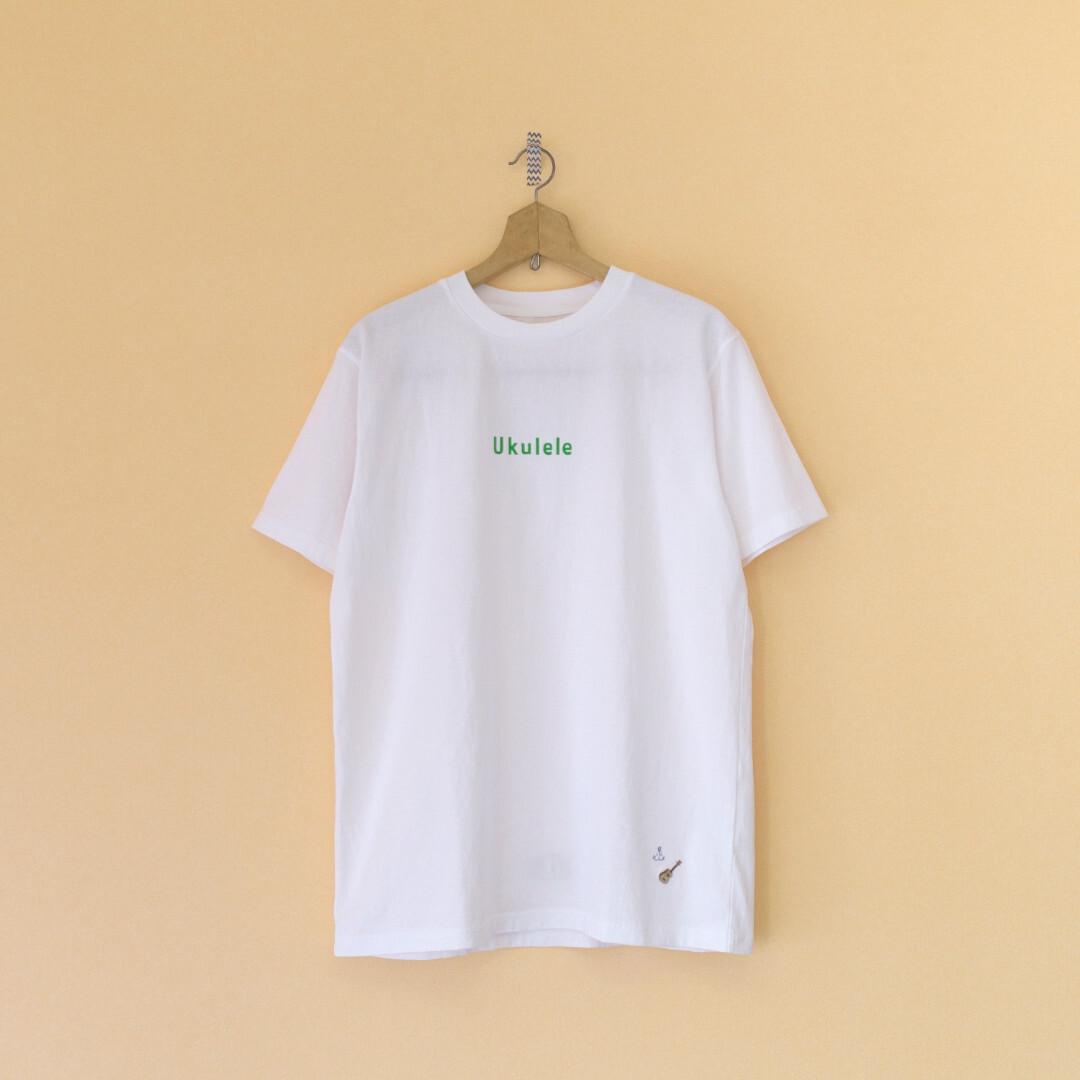 快晴堂 カイセイドウ 海上がりUNI Tシャツ Ukulele・ホワイト【メンズ】