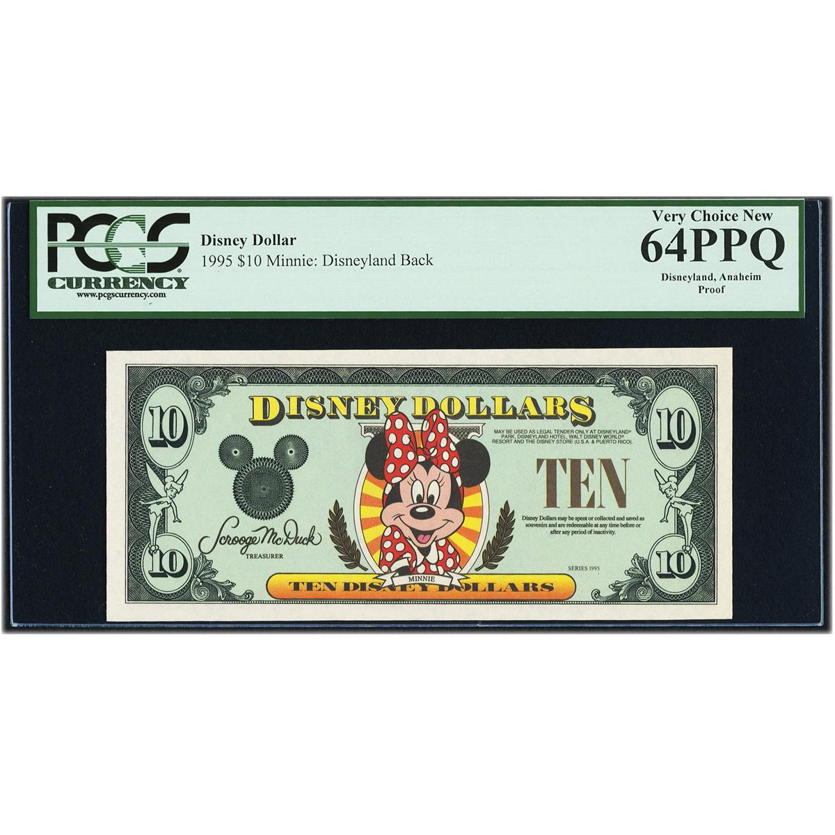 Disney Dollars Disneyland $10 Proof