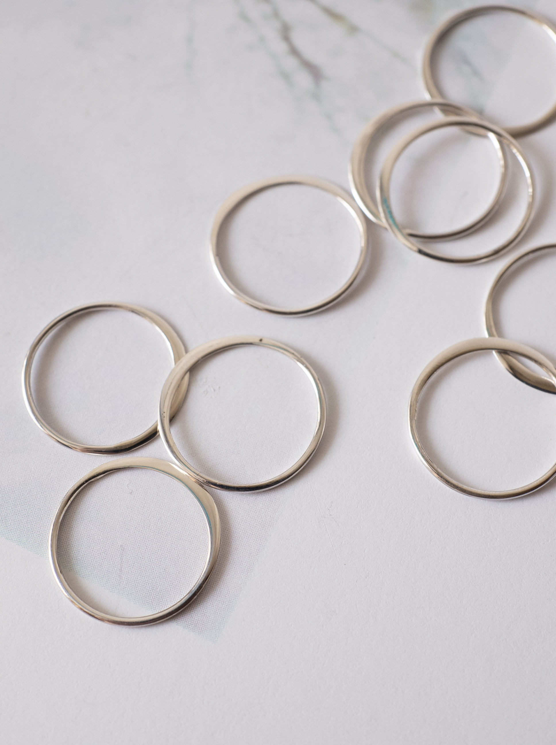 Circle Link Parts 15mm / Silver - 016