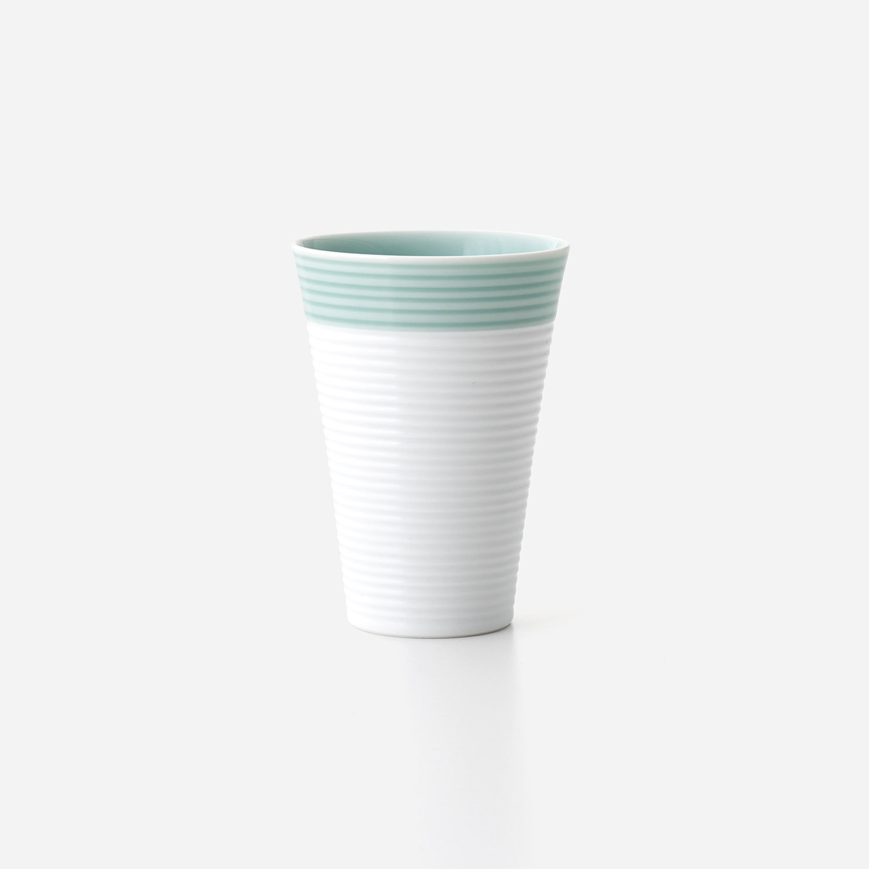 No.88 青磁白彩 フリーカップ(小)