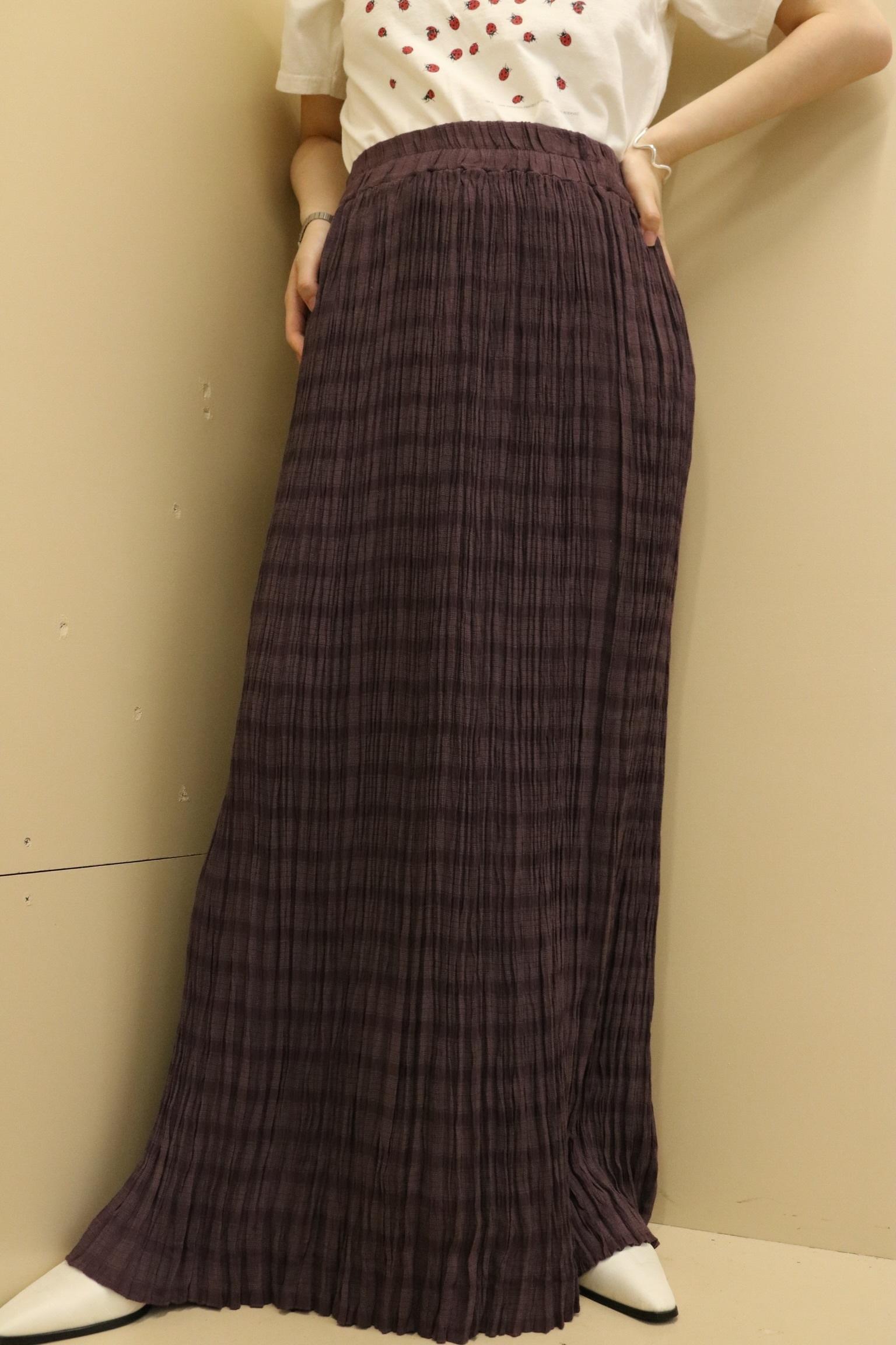 clash pleats skirt / 7SSSK09-20