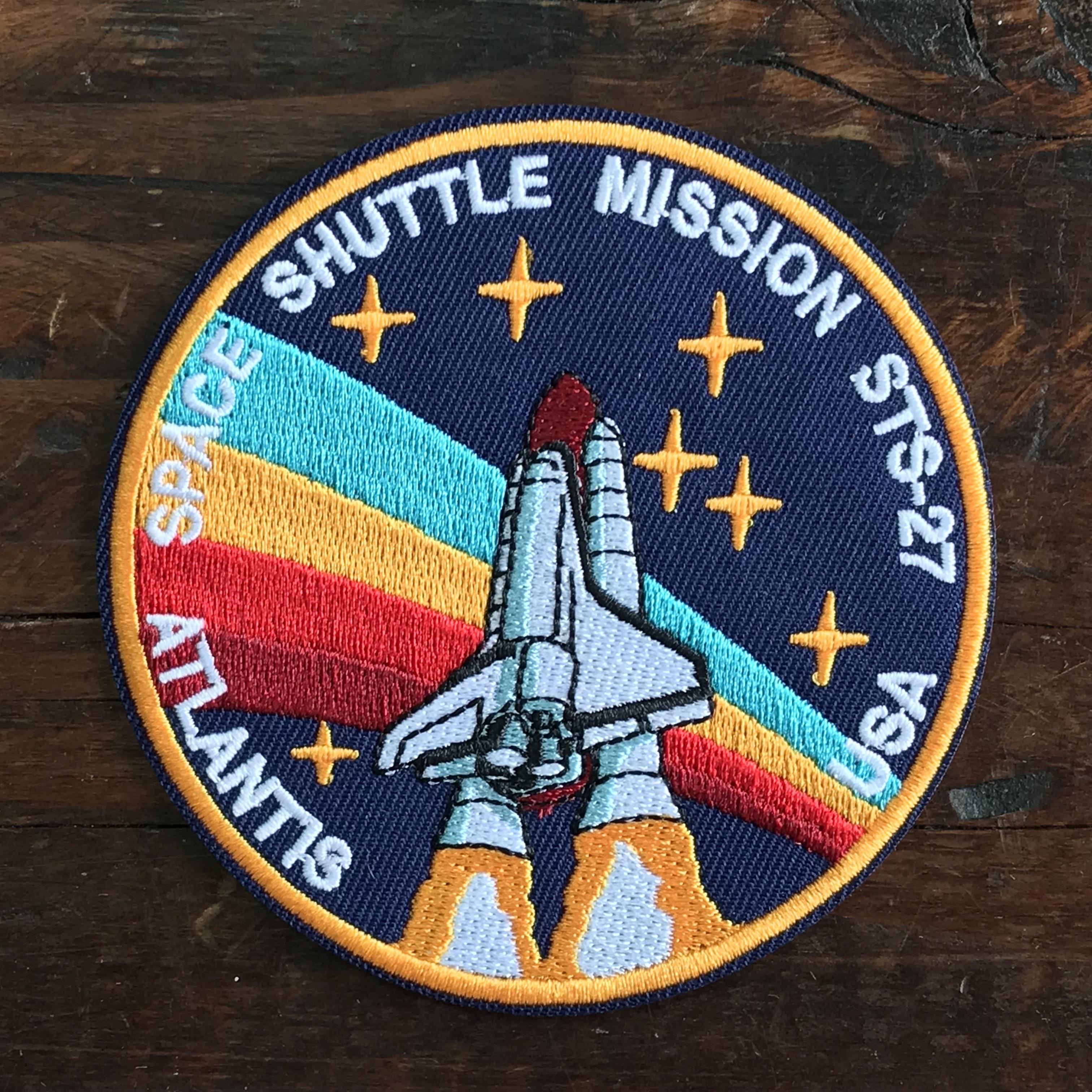 NASA公認(アメリカ航空宇宙局)ワッペン・アップリケ・スペースシャトルミッション・STS-27