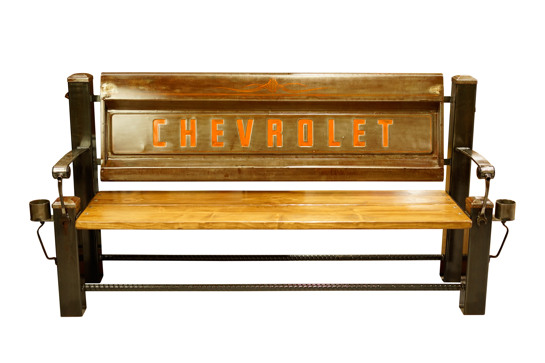 CHEVROLET FLEET BED TAILGATE BENCH 【BROWN】
