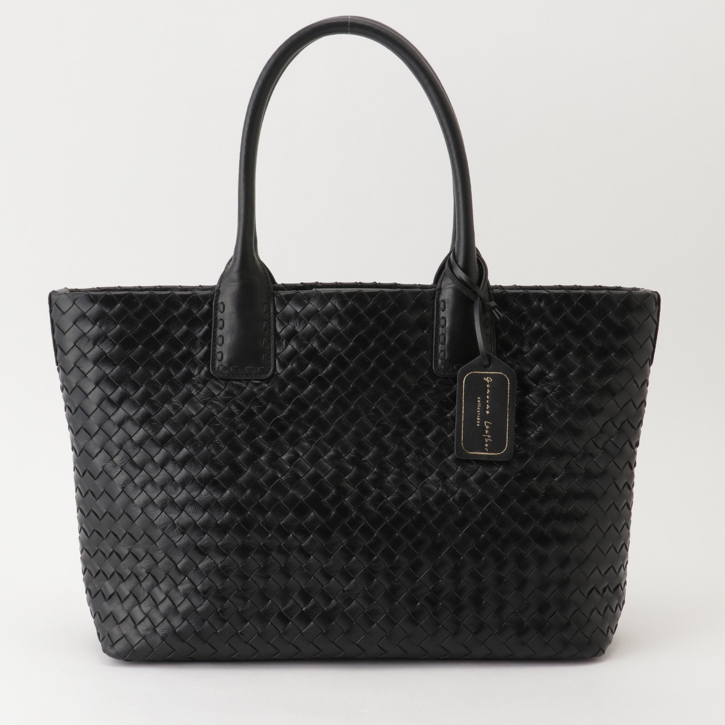 BLACK MESH TOTE~当店オリジナル革製品ブランド、Genuine Leather