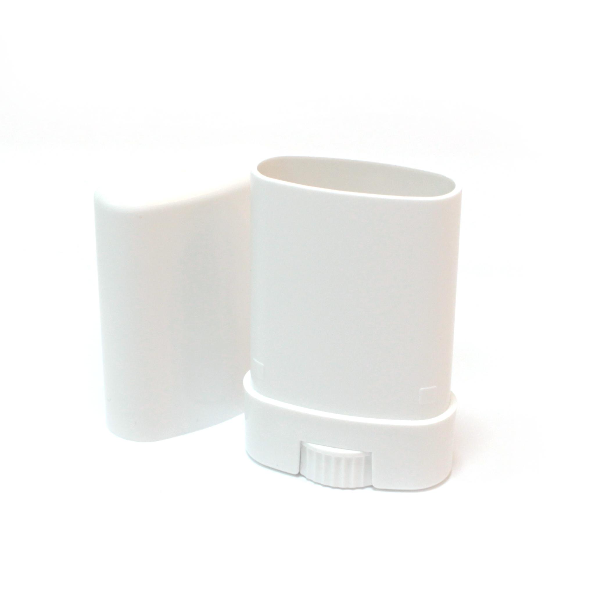 容器 オーバル繰り出し式リップチューブ(ホワイト)10g 2個入り
