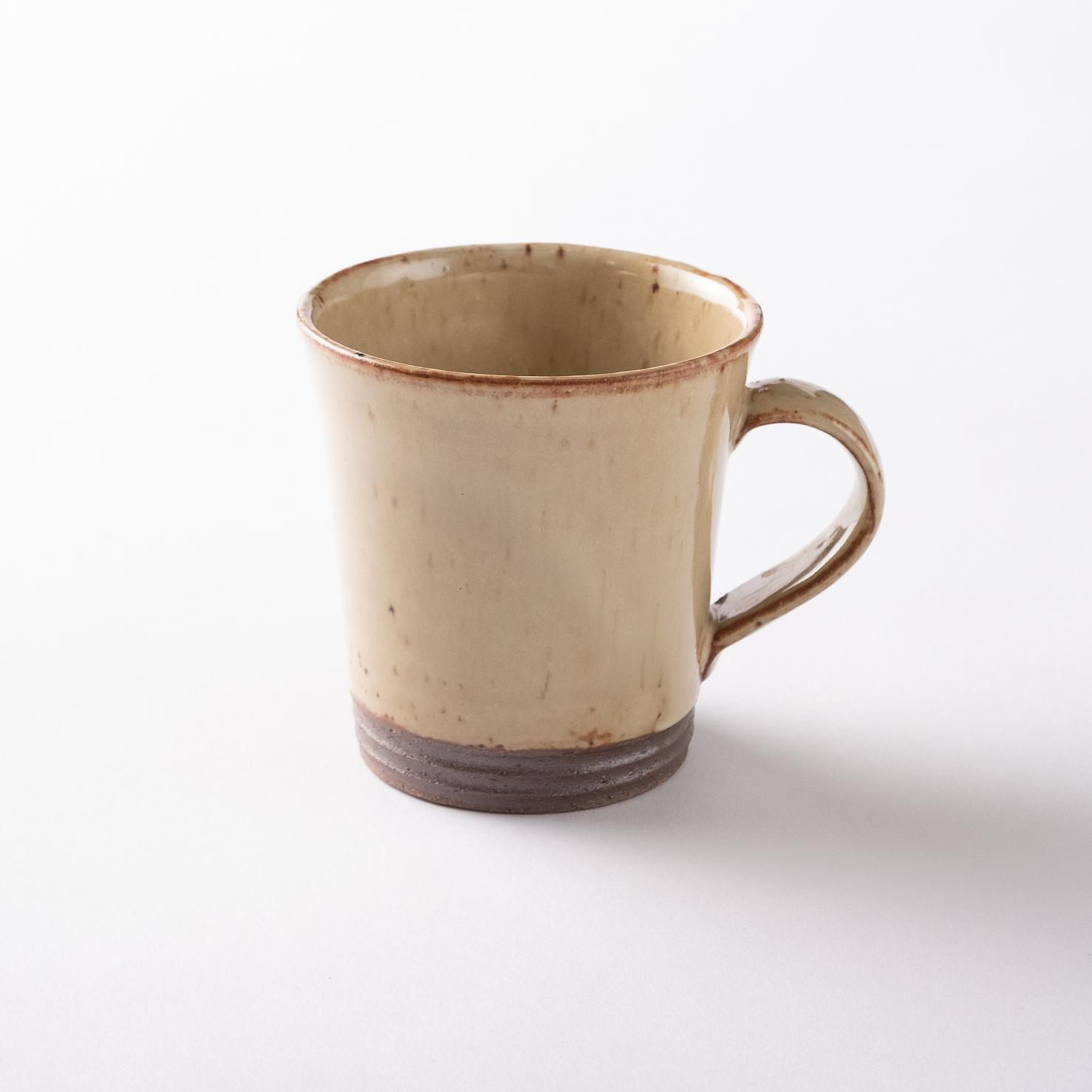 【瀬戸焼】マグカップ「マスタードイエロー マグカップ」