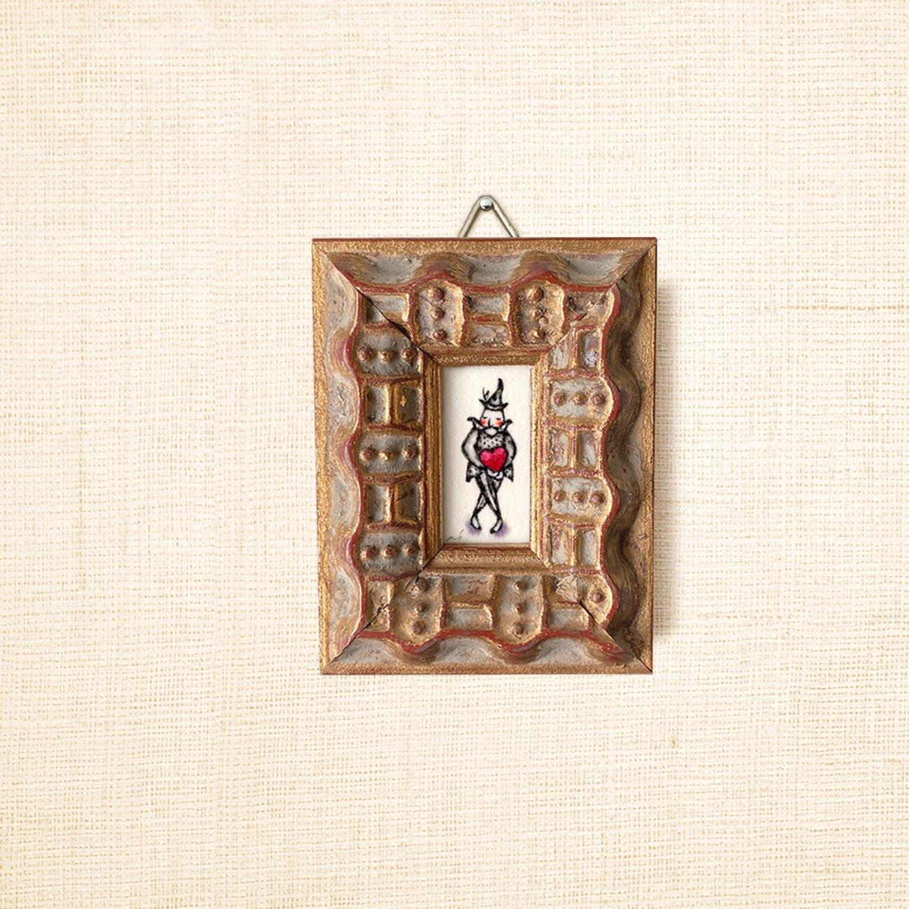 ミニ額縁 原画【 愛の配達人 】mini size frame