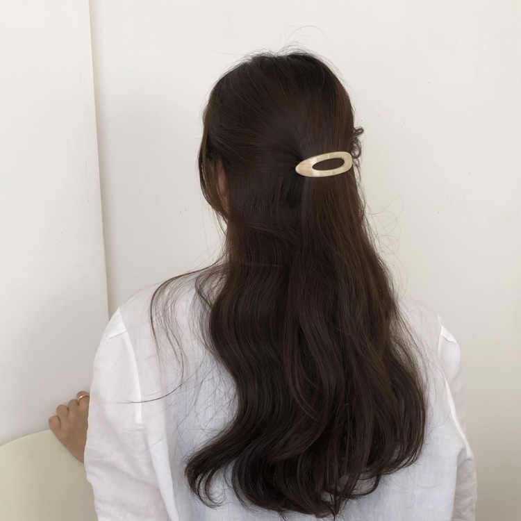 marble hair pin(4 colors)