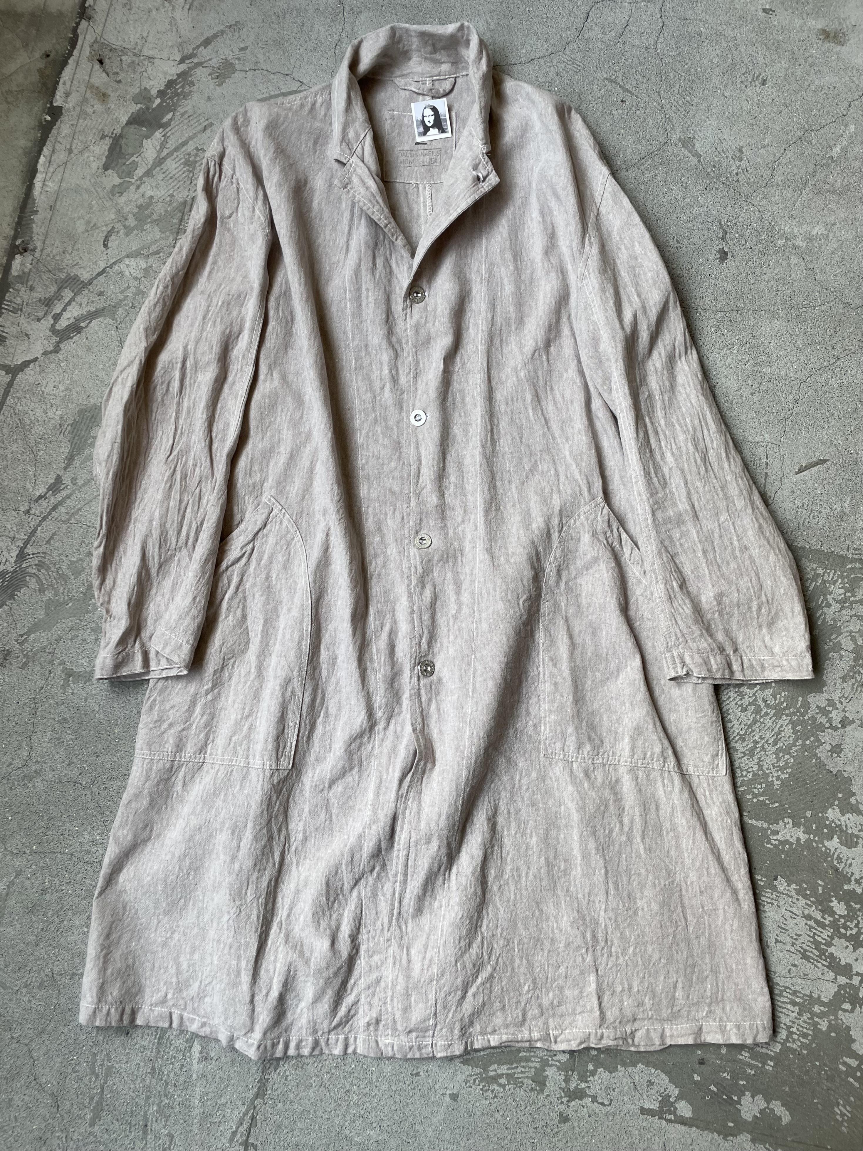cotton linen long coat