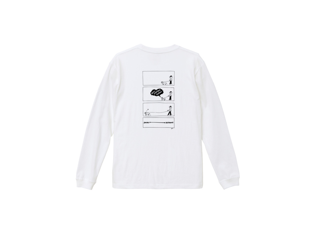 SHI × coguchi Dog SD long T-shirt (WH/BLK)