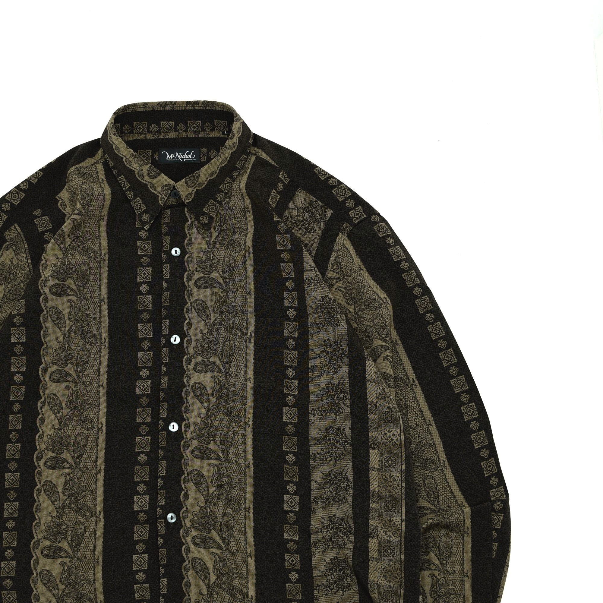 Antique paisley pattern polyester shirt