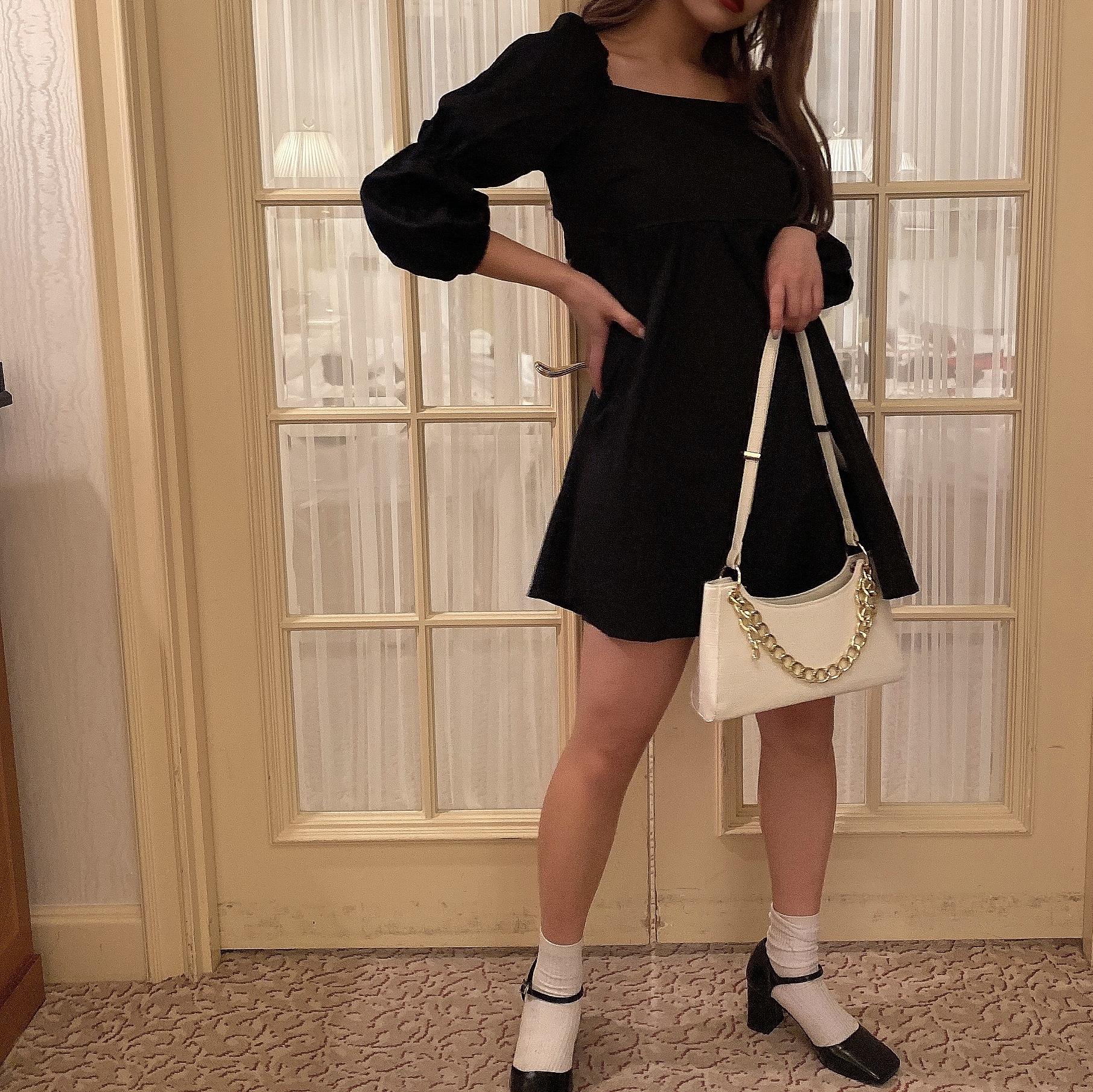 【Belle jour】chain croco bag