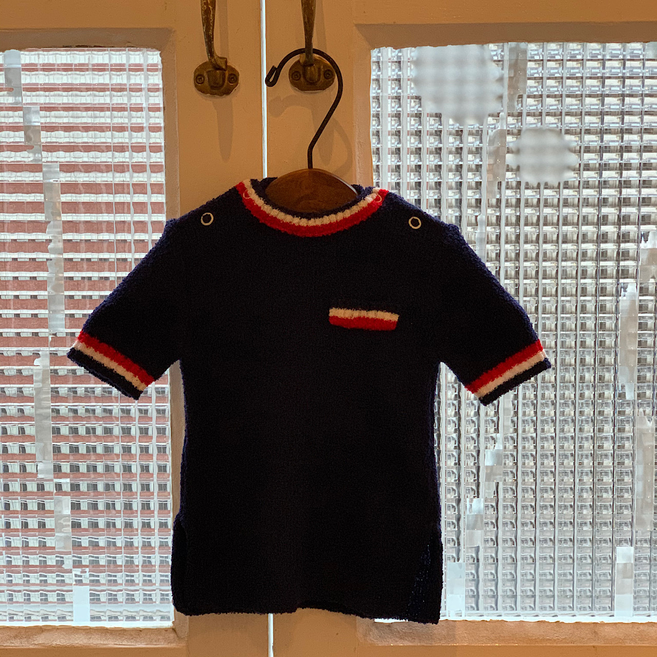 【KIDS】70's Textured Navy blue Sweater - French - 1 year
