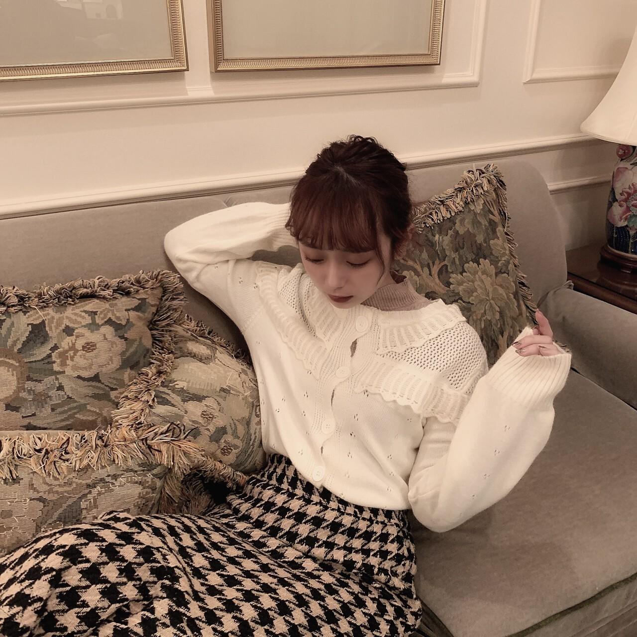 【meltie】creamy knit cardigan
