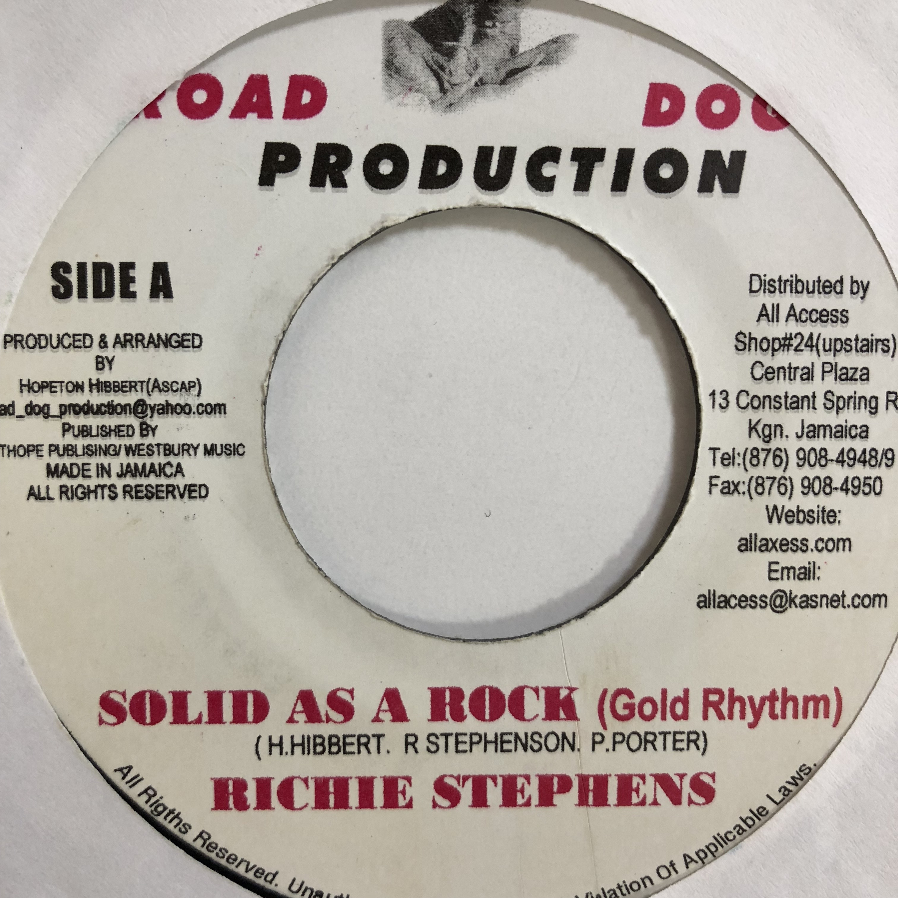 Richie stephens(リッチースティーブンス) -  solid as a rock【7-10749】