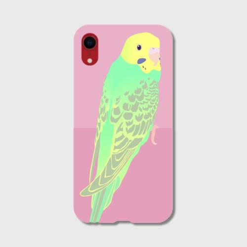 iPhoneケース セキセイインコ ライトグリーン女の子【各機種対応】
