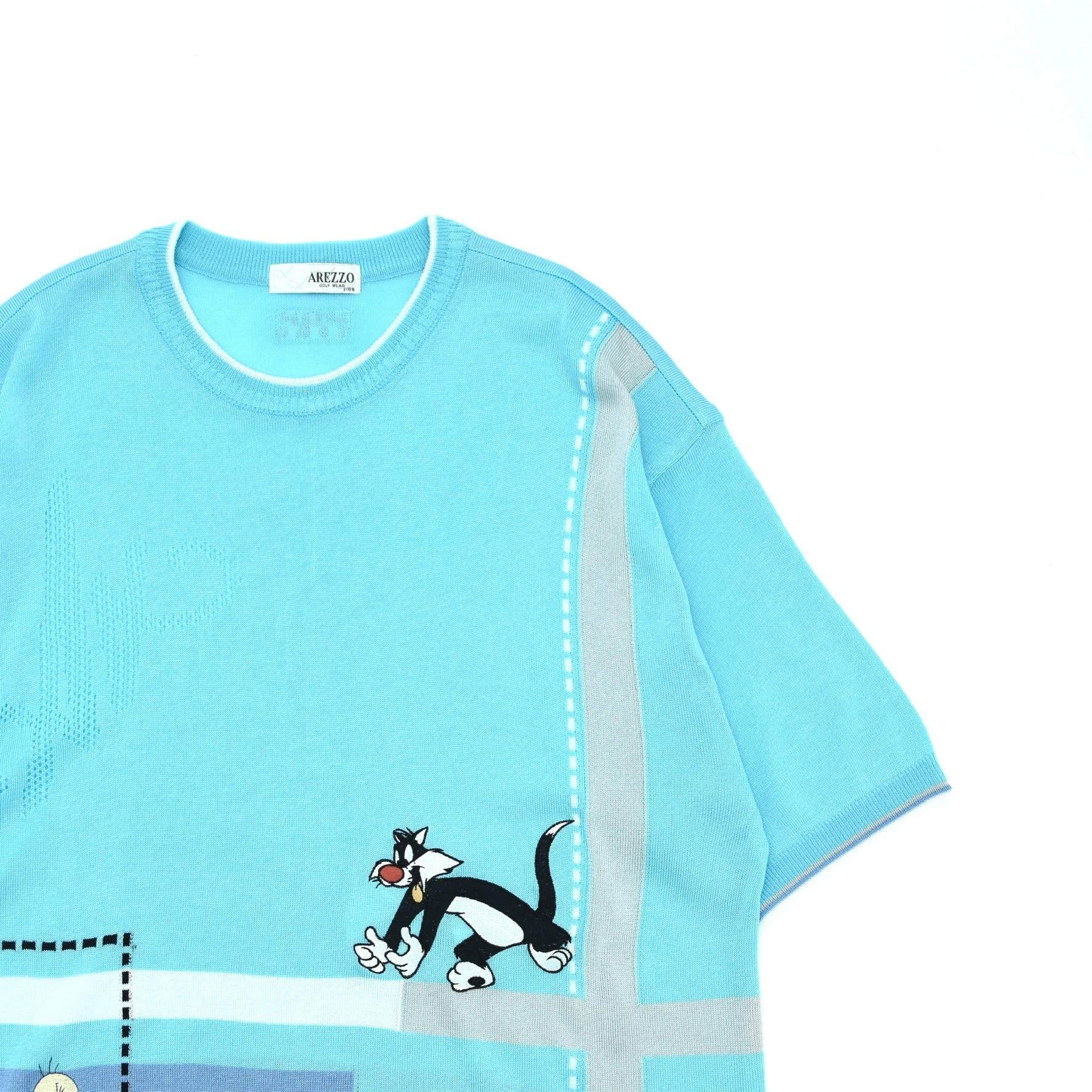 Tweety×Sylvester embroidery summer knit