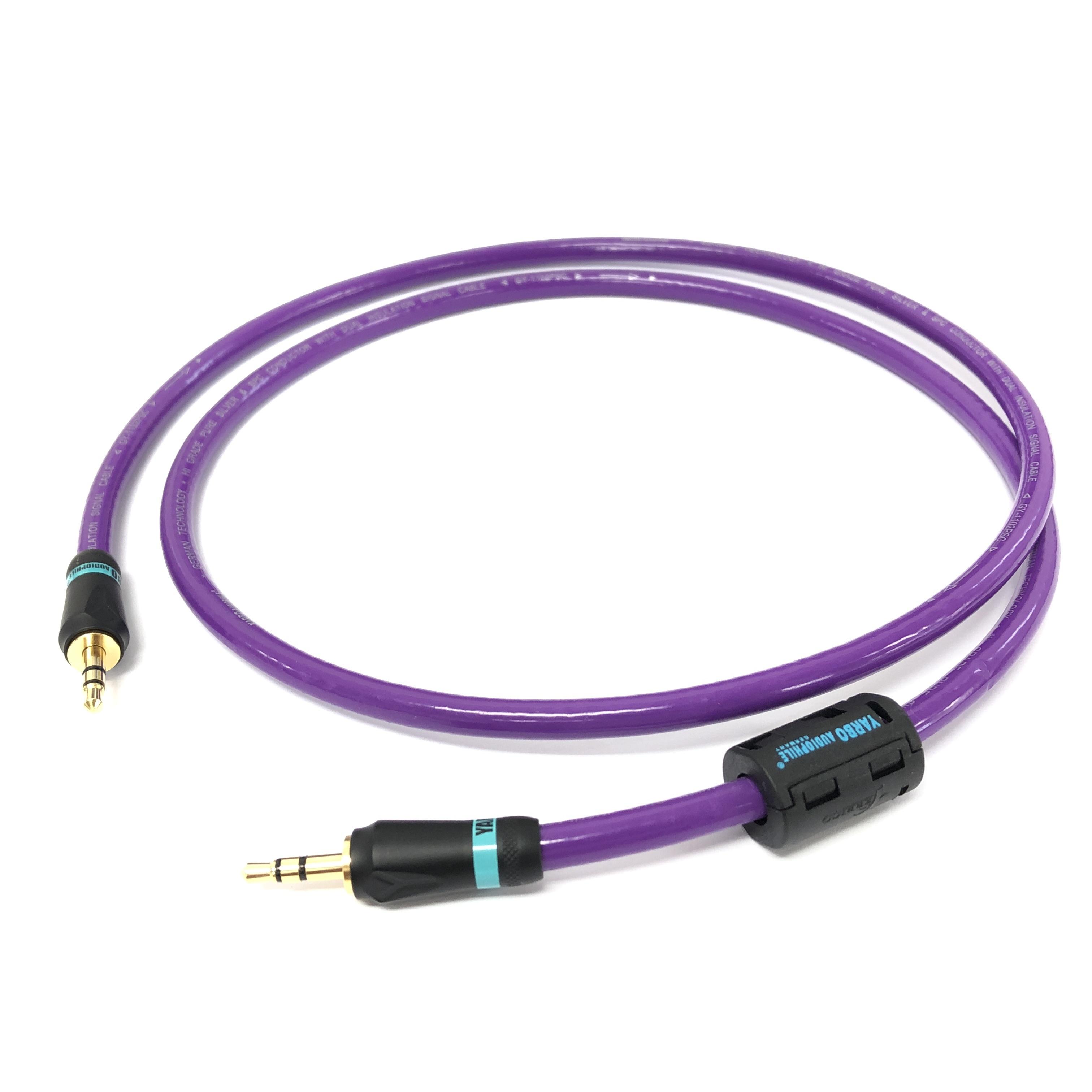 【アウトレット 数量限定】GY-7008MA-F 銀メッキ銅線オーディオケーブル 3.5mm mini-mini 1m::YARBO