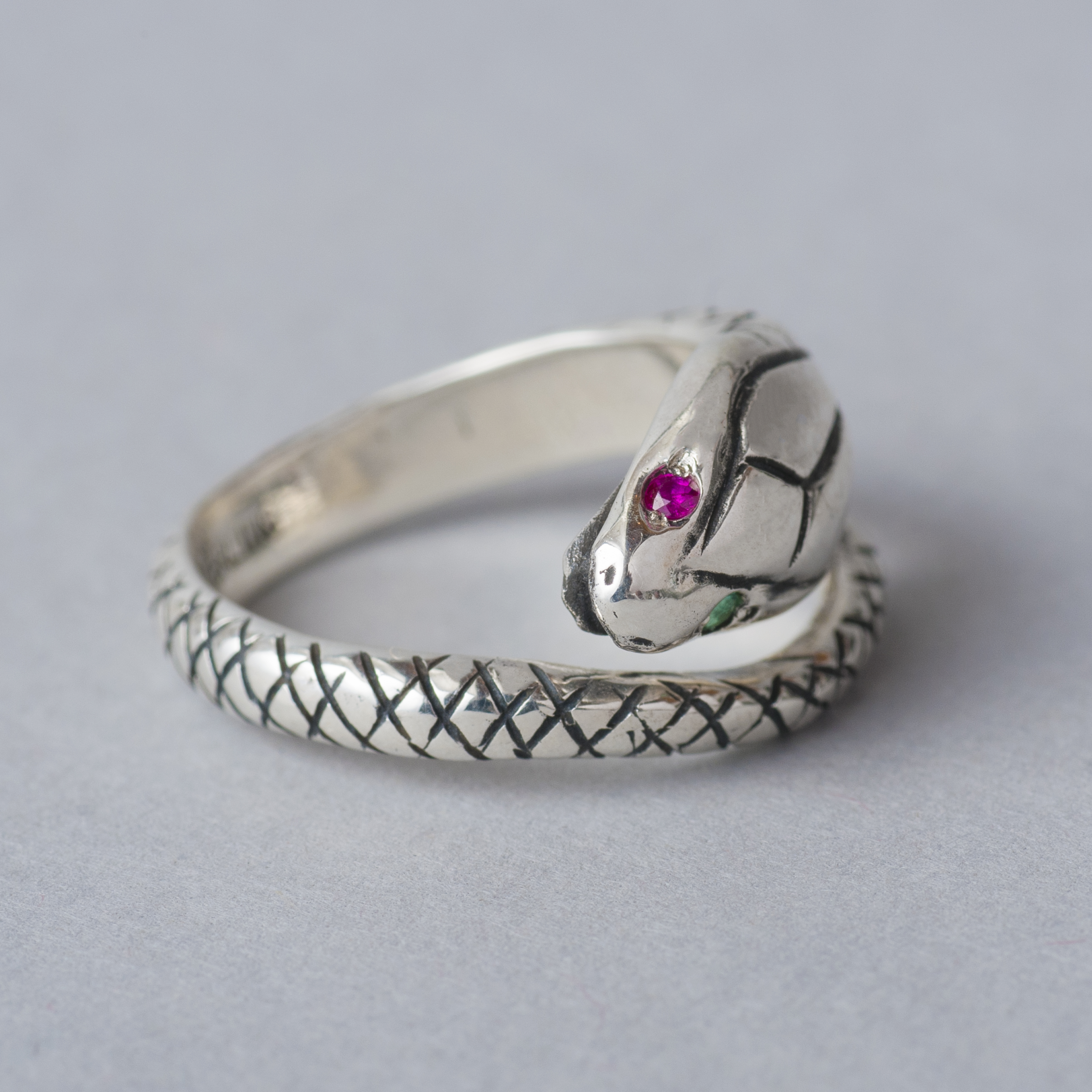 """[SOLARIS&CO.] Silver925 Pinky Ring """"SNAKEHEAD"""""""