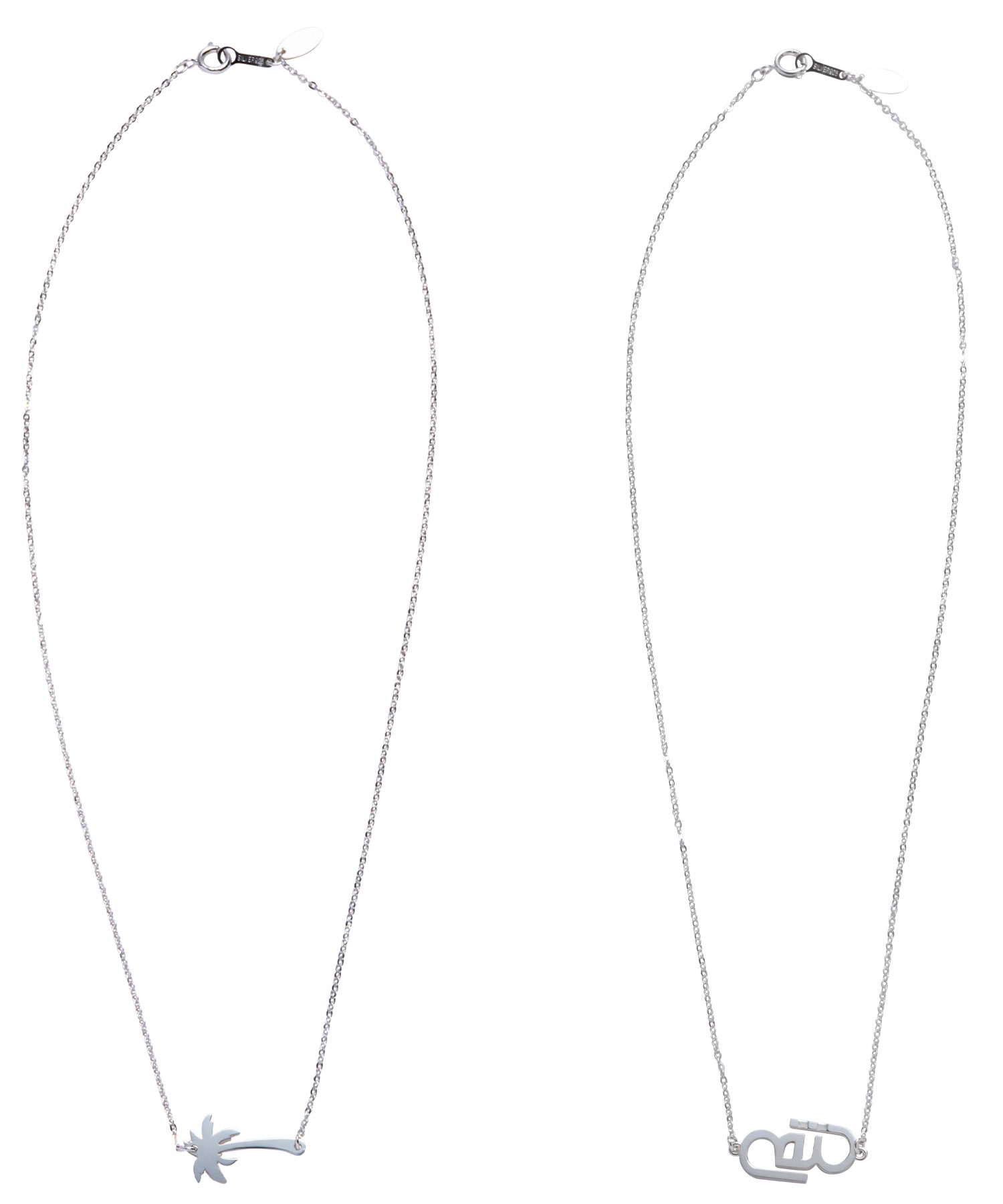 ONE POINT TOP CABLE CHAIN NECKLACE-SILVER[REA148]