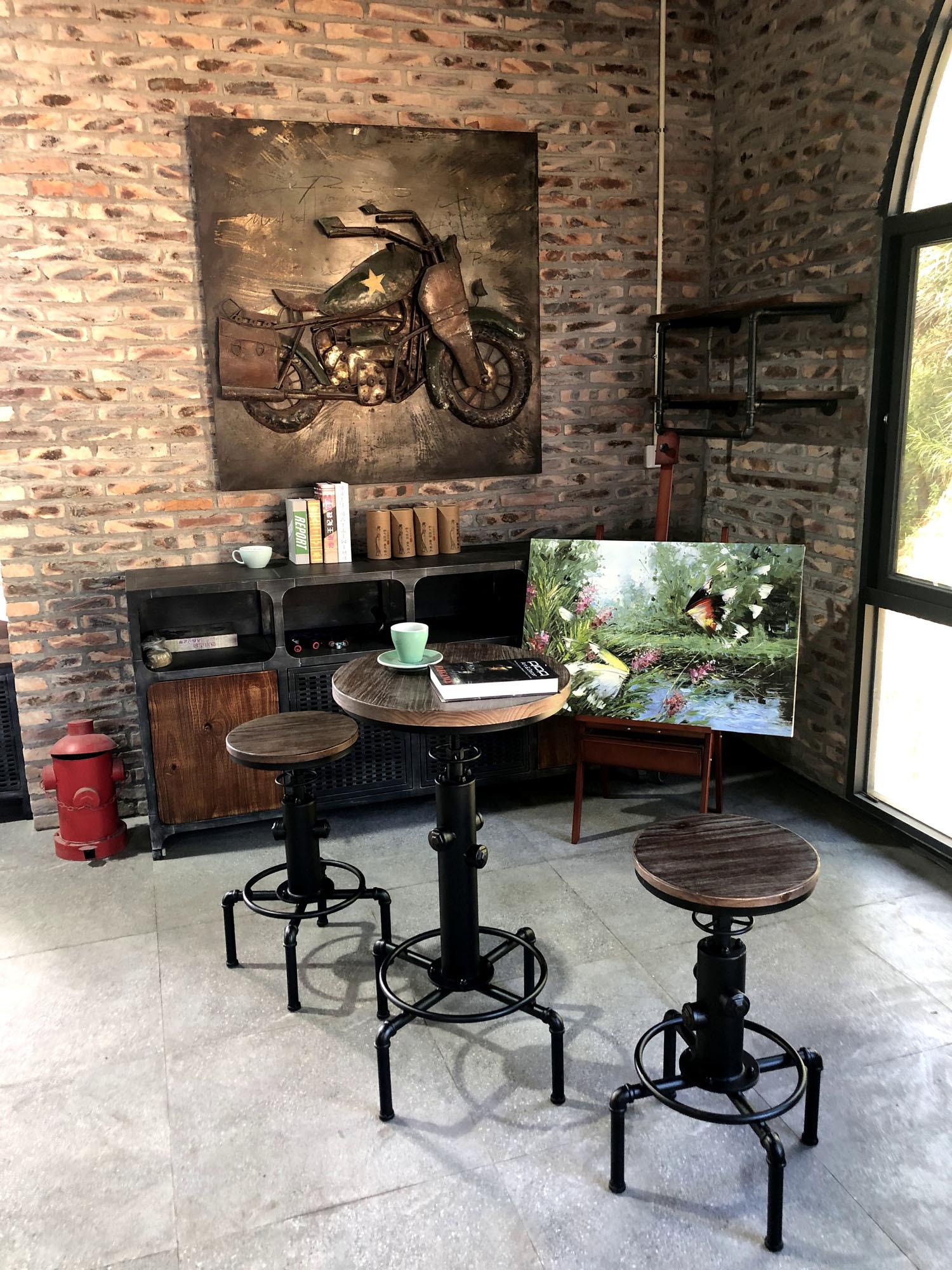 Smoky Bar Table BLK / ヴィンテージスタイル スモーキー バーテーブル / ブラック