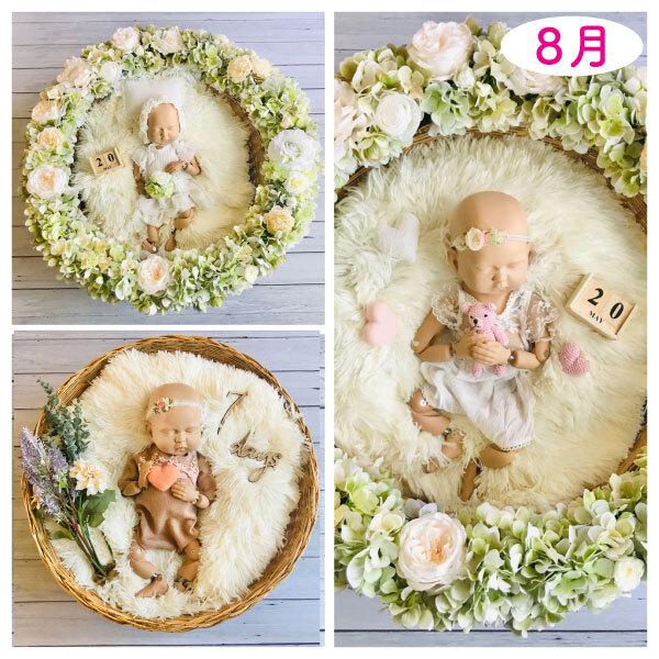 紫陽花リース女の子コーデセット<レンタル&8月予定日のお客様ご予約枠>