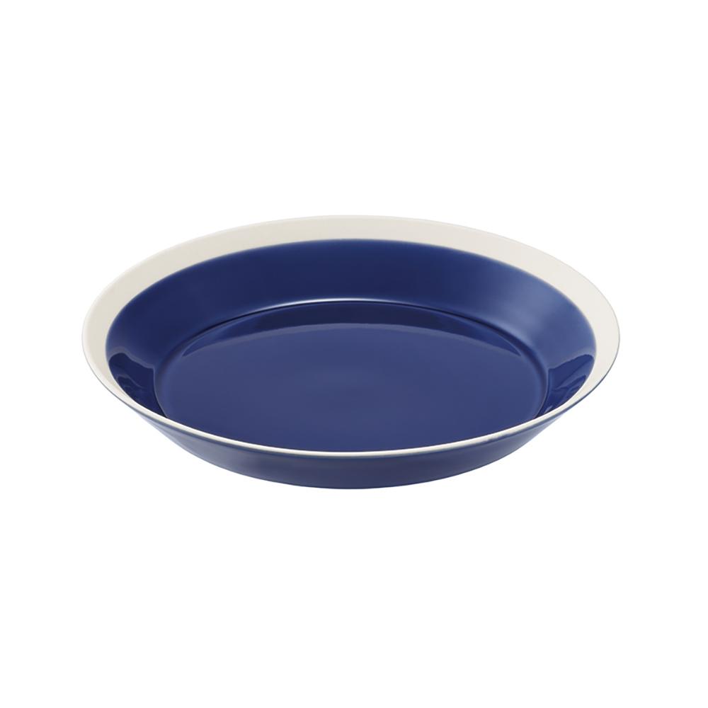 yumiko iihoshi porcelain(ユミコイイホシポーセリン)×木村硝子店 dishes 200 plate (ink blue) プレート 皿 20cm 日本製 255602