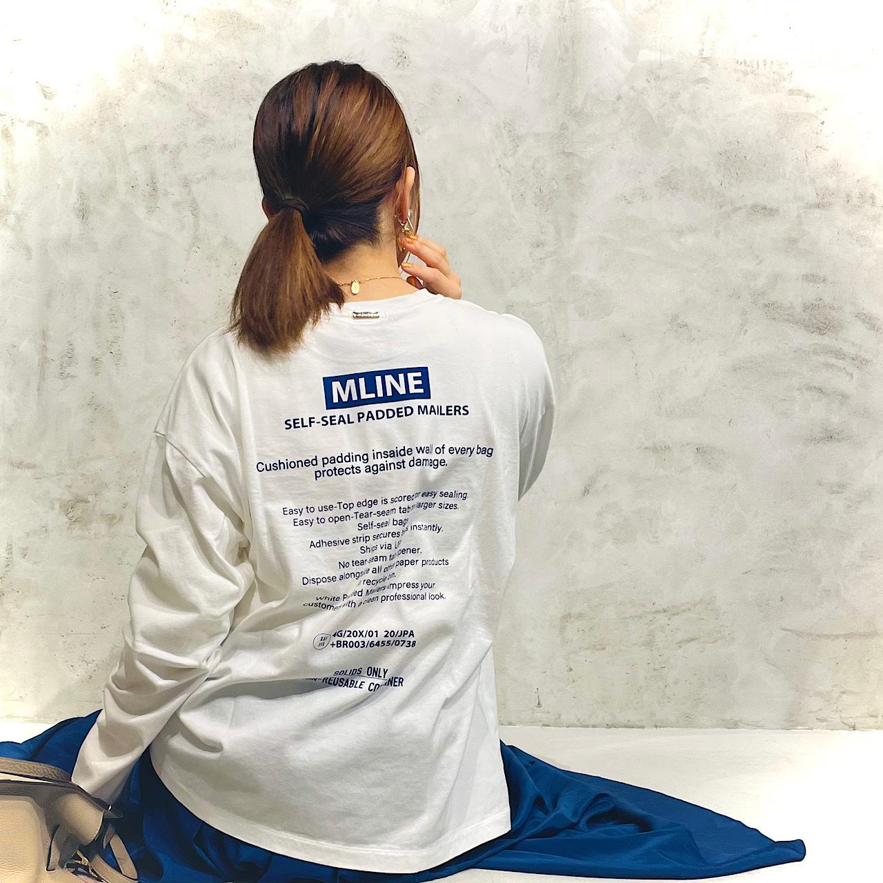 "MICA&DEAL マイカアンドディール ""MLINE""バックロゴプリントロングスリーブT-shirts 0121409227"
