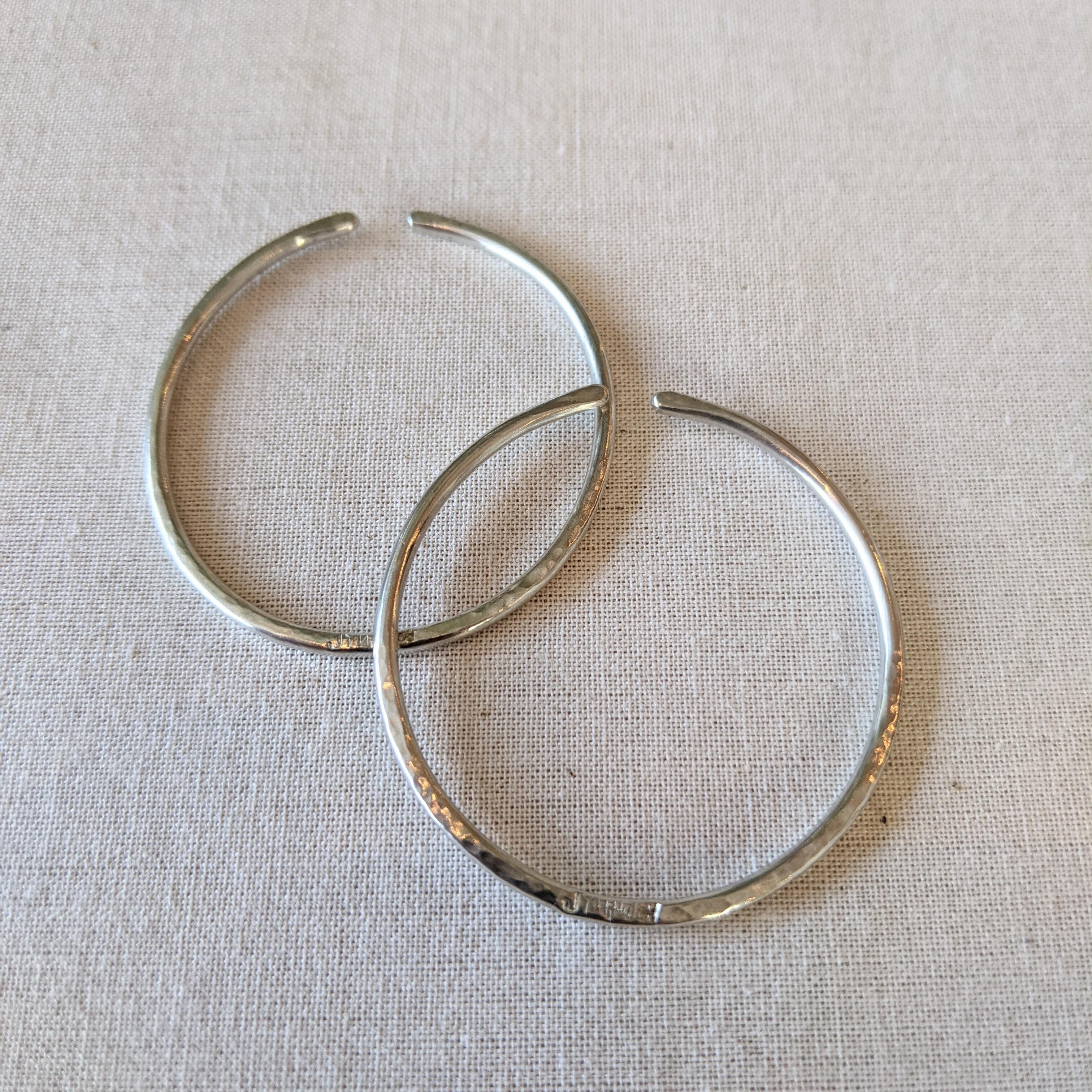 【 jomathwich 】silver  earcuff  / シルバー素材 / 2本set item /  E-big circle  イヤーカフ