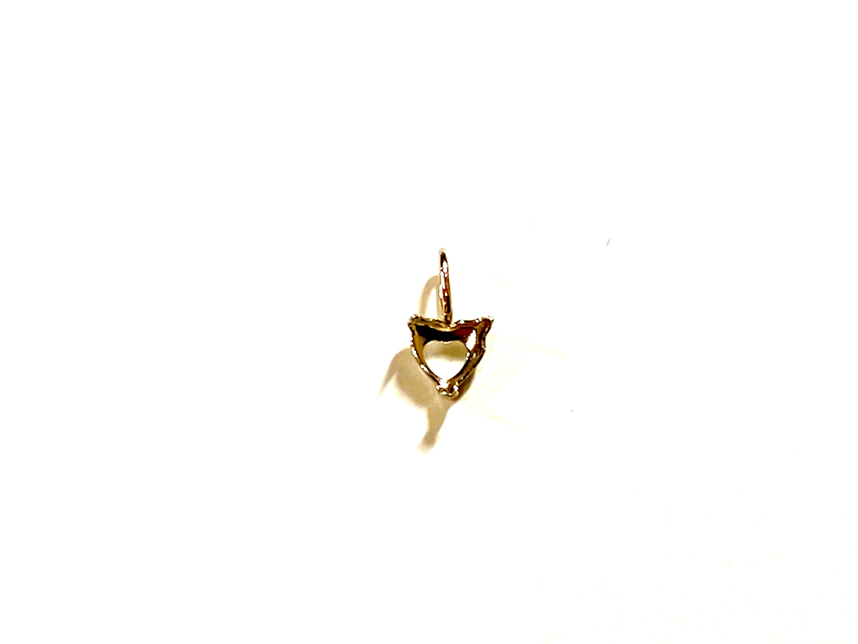 【K10YG】『タテヨコ3mm 』ハートシェイプ対応空枠 [空枠No,16]