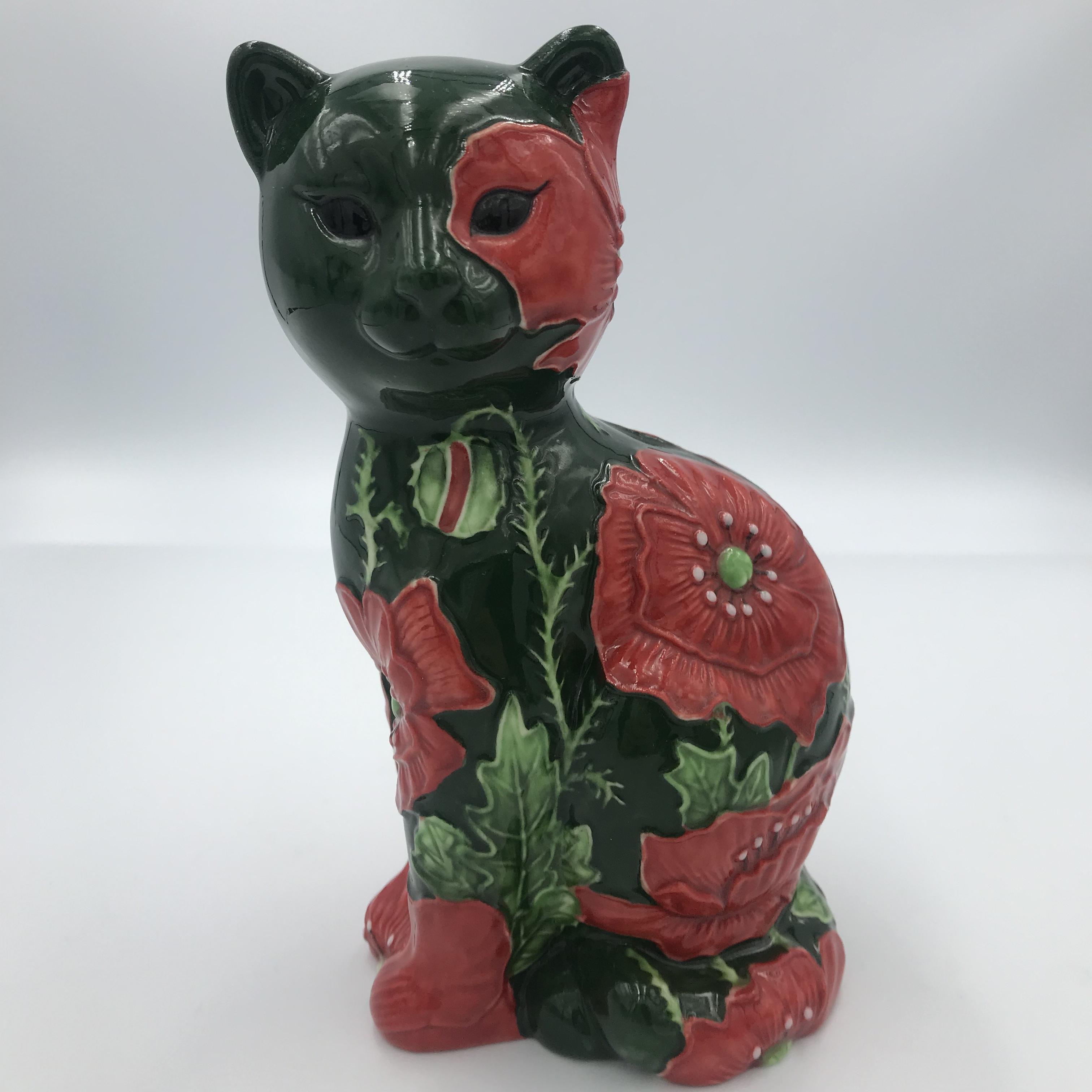 猫の置物 Floral Parade イギリス