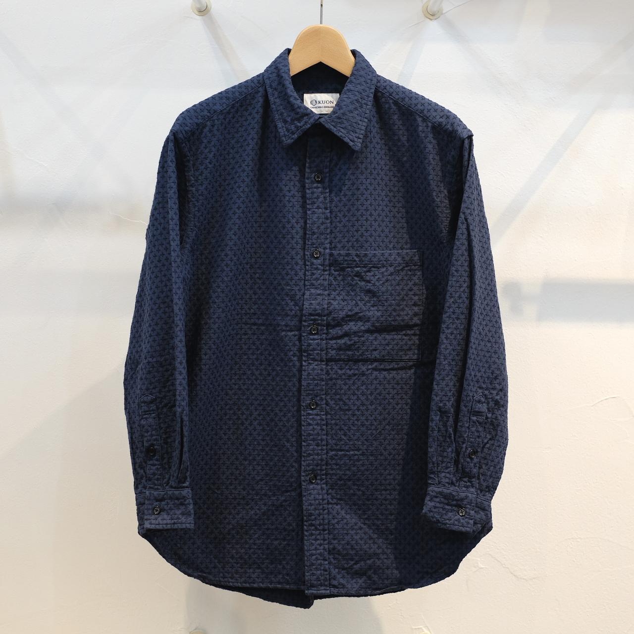 KUON(クオン) 十字刺し子 セミロングシャツ