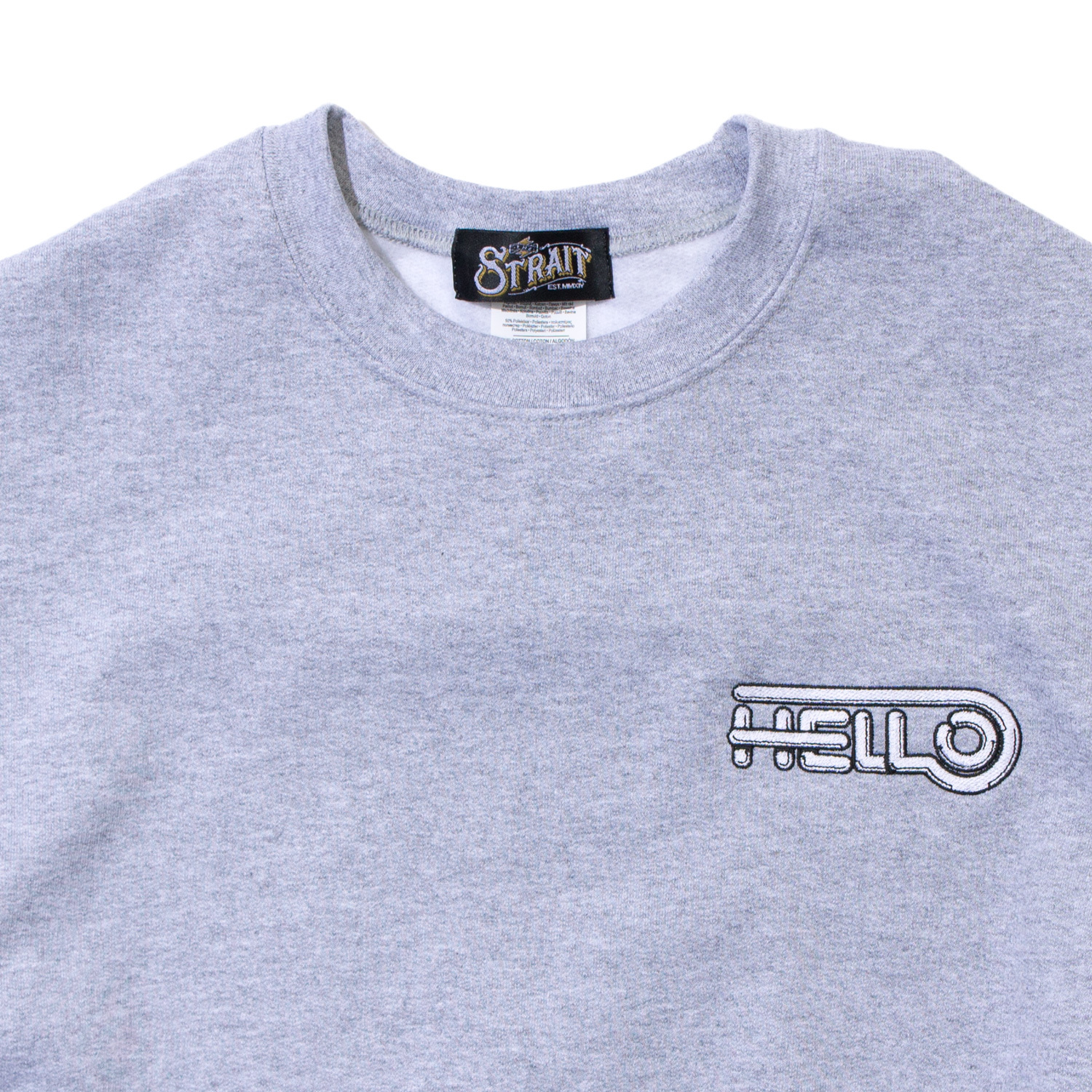HELLO CREWNECK SWEAT #T.GREY