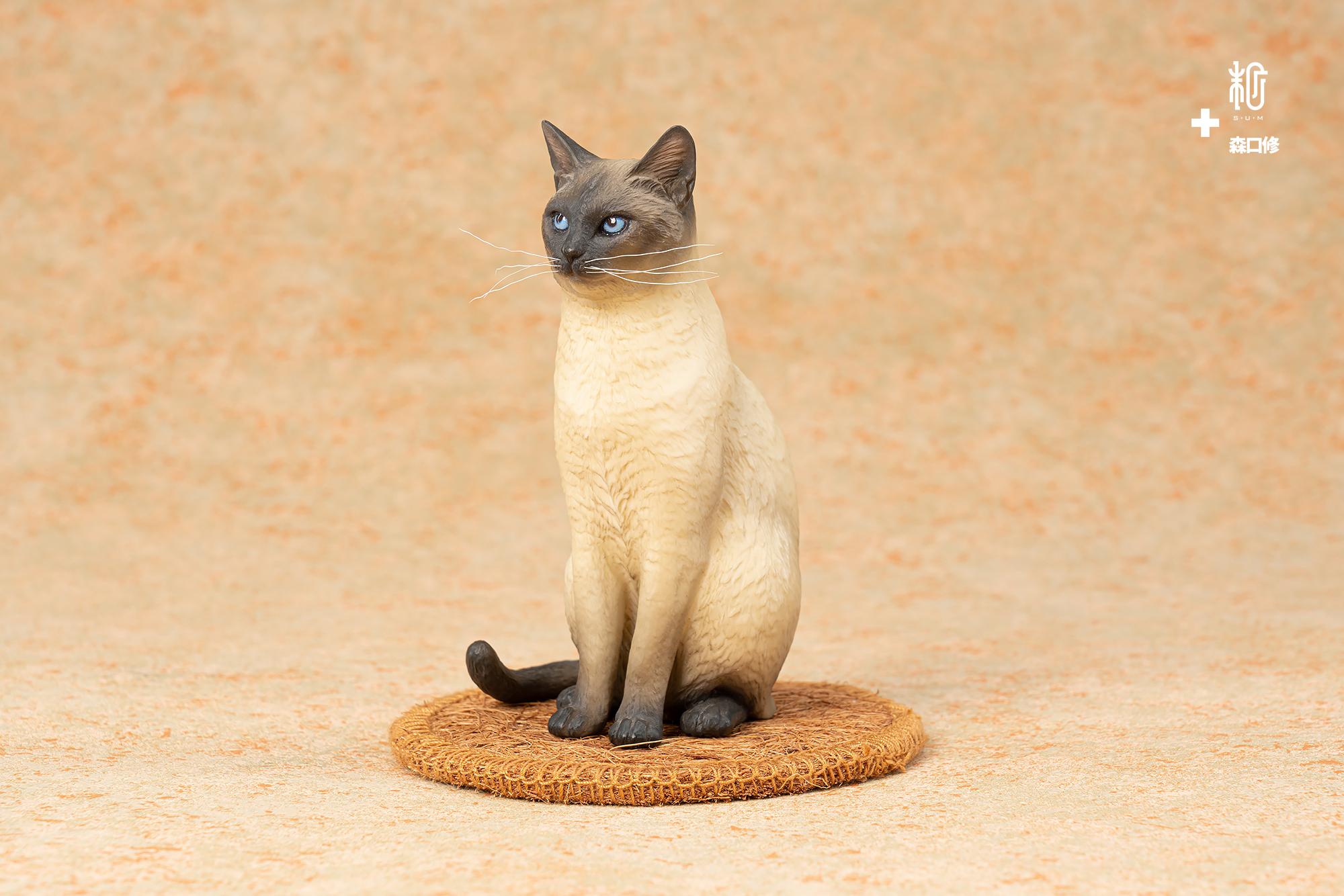 「森口修の猫」ー立ち姿(シャム猫塗装)|森口修|