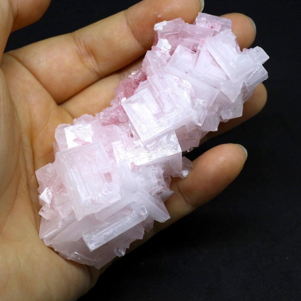 ピンクハーライト カリフォルニア産 62g 岩塩 PH031