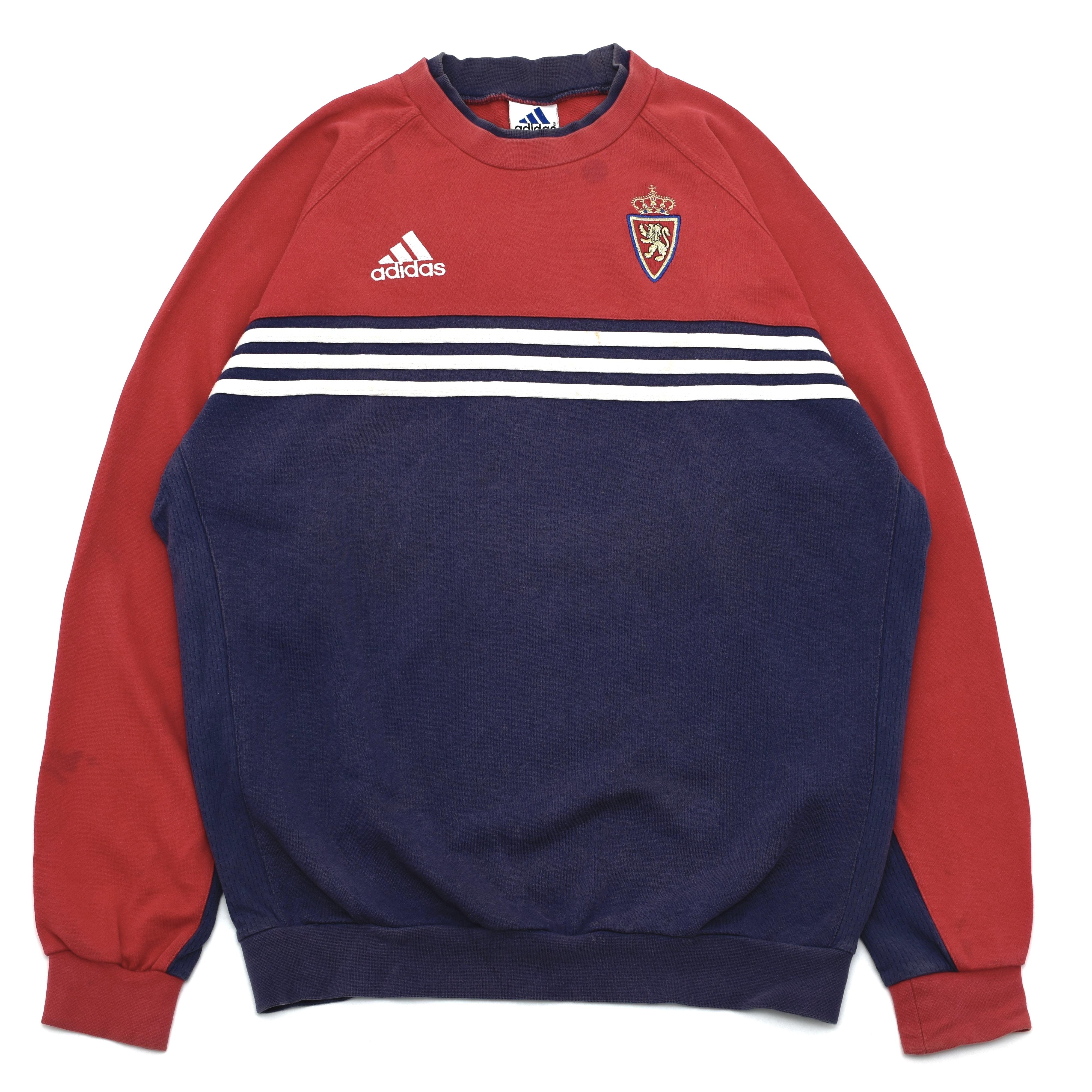 90's adidas tricolor color sweatshirt