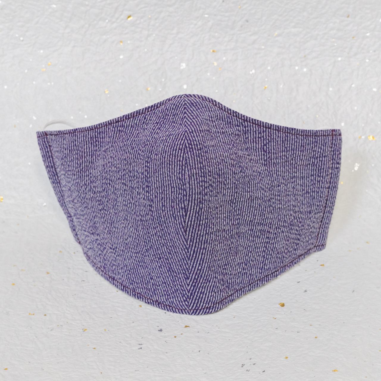 モダン和紙織りマスク クラシック パープル(紫)